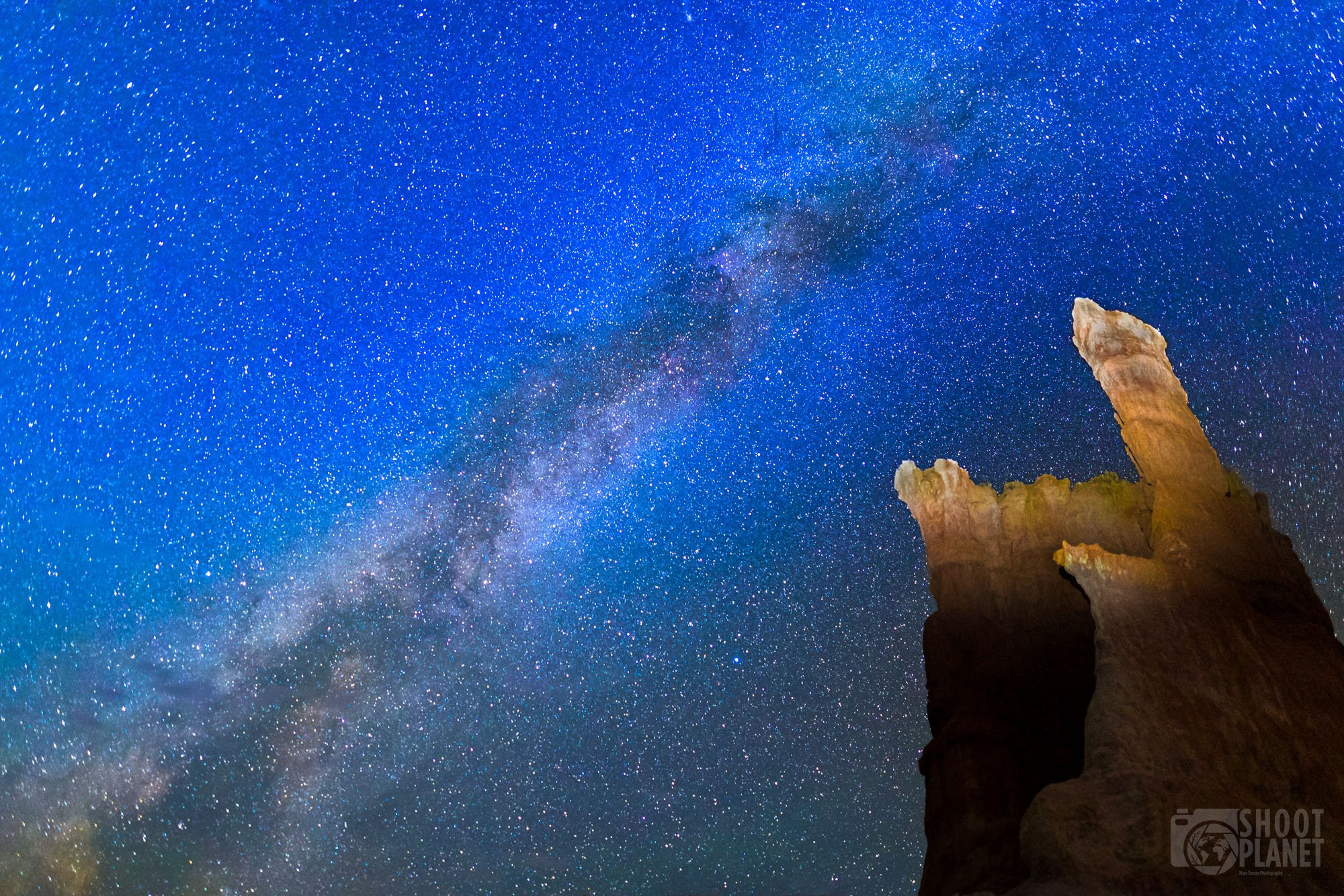 Bryce Canyon Milky Way galactic center, USA