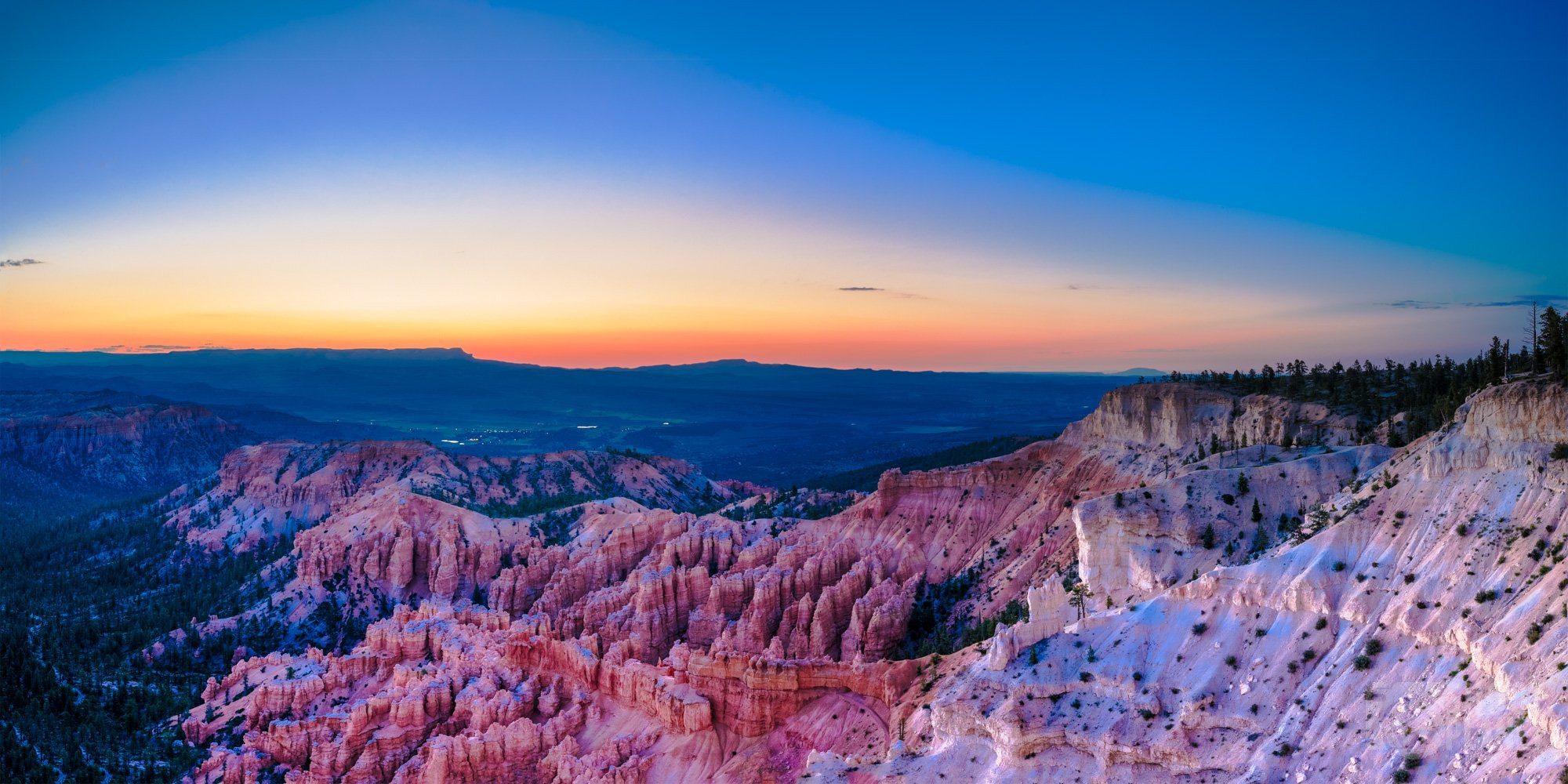 Bryce Canyon National Park twilight, Utah, USA