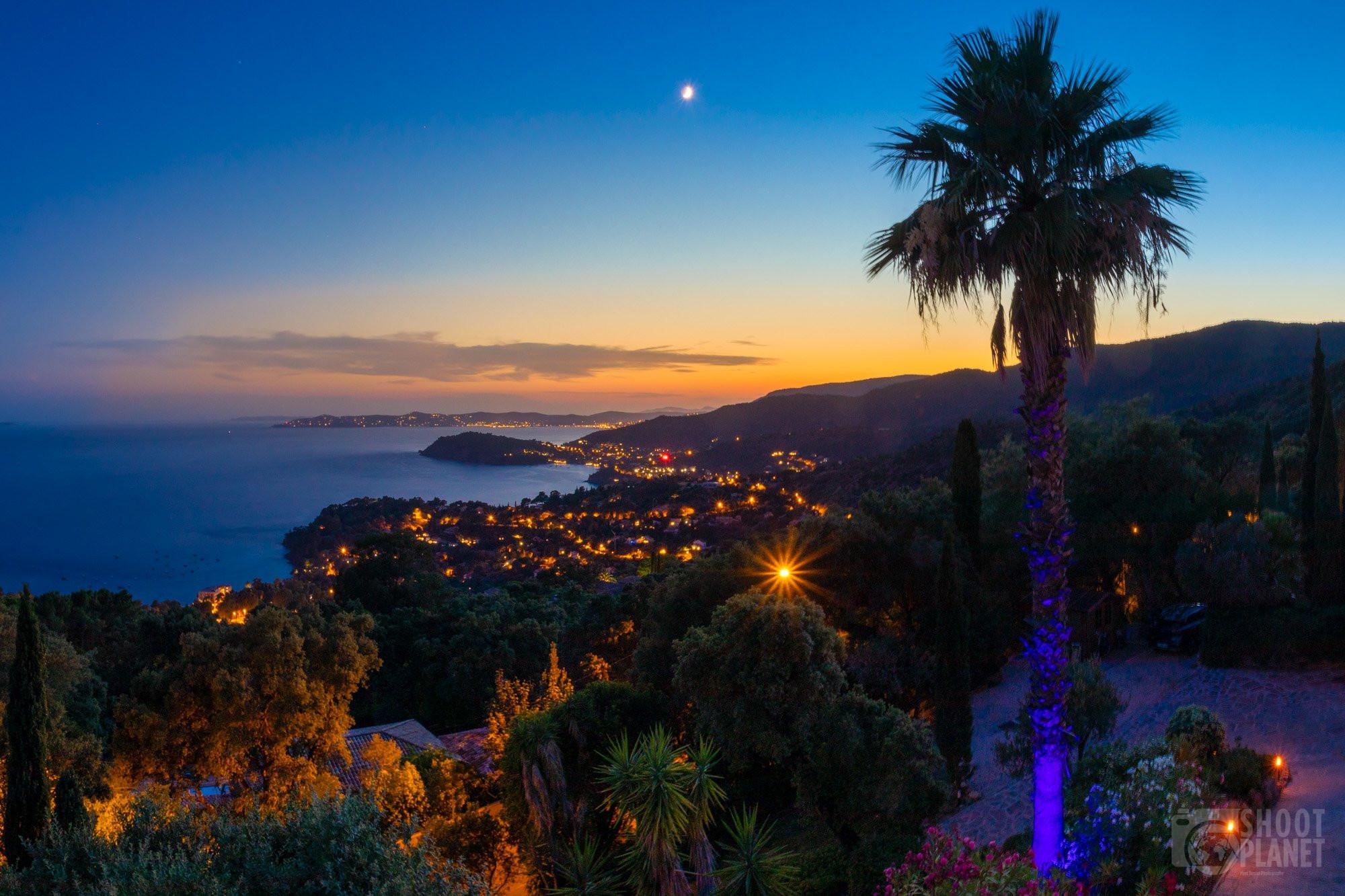 Sunset from Visatzur villa, Azure coast France