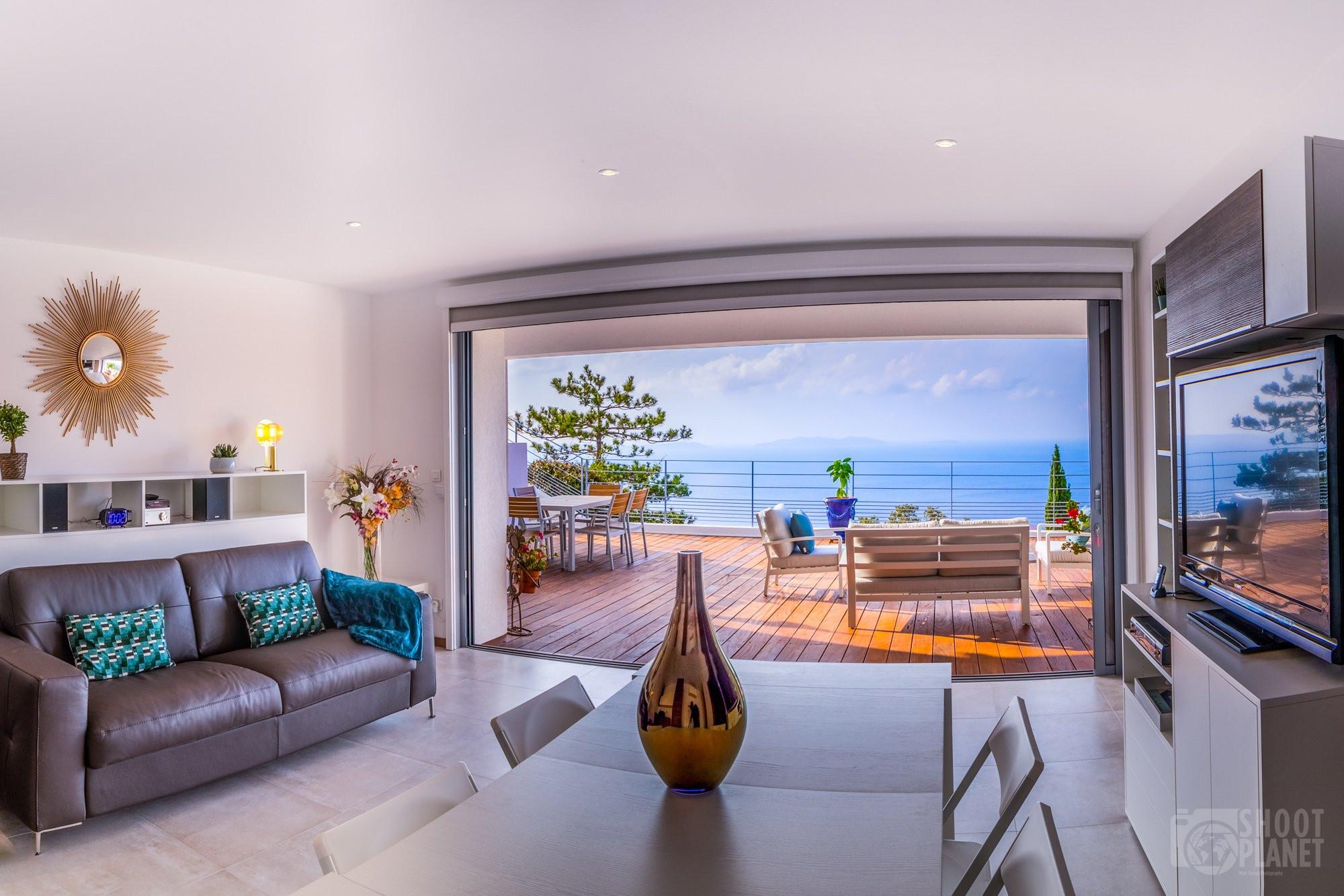 Sea view from Vistazur apartment, Azure Coast France