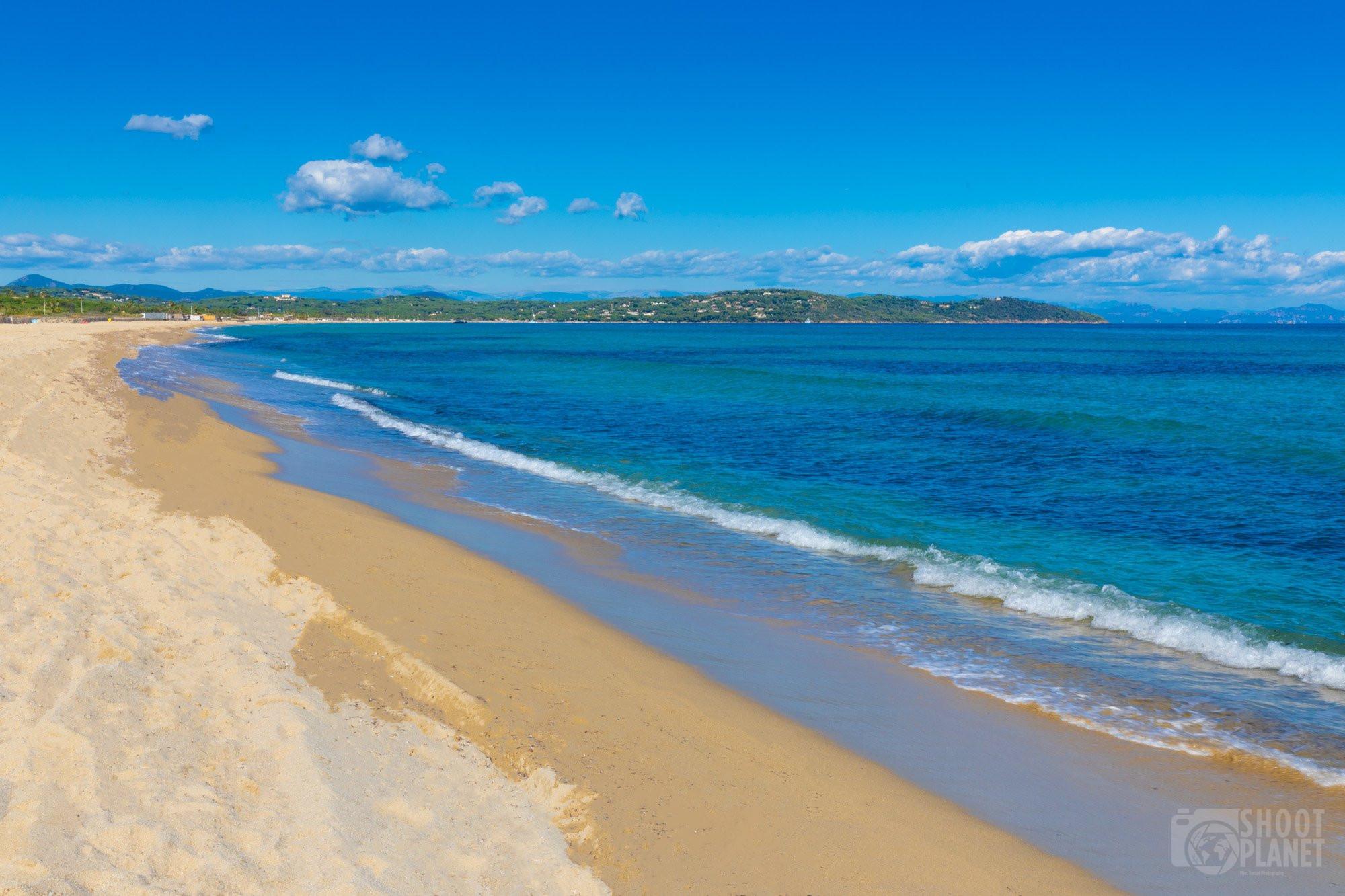 Pampelonne beach, Ramatuelle gulf of Saint-Tropez, France
