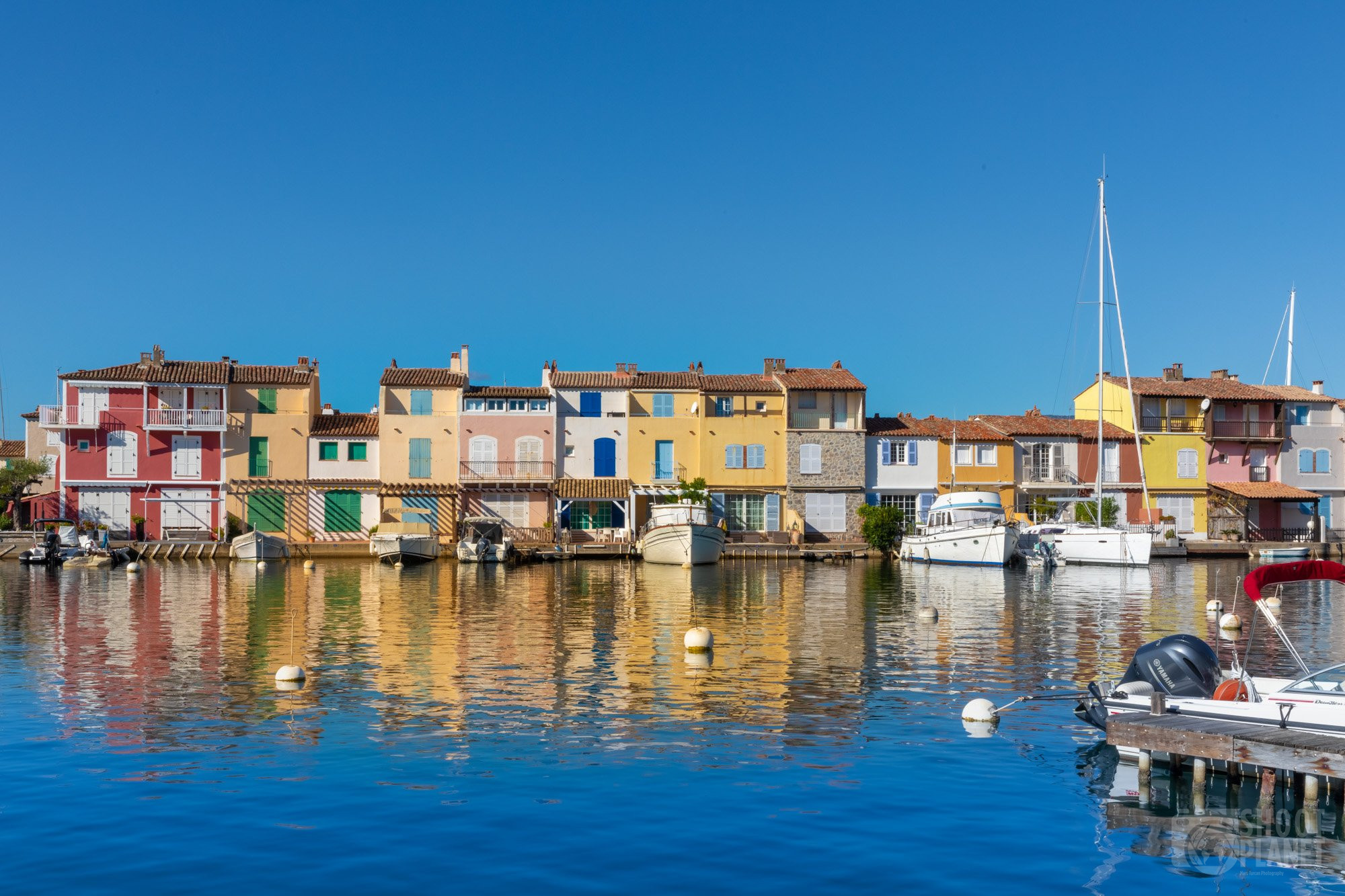 Port Grimaud lake city, Azure Coast France