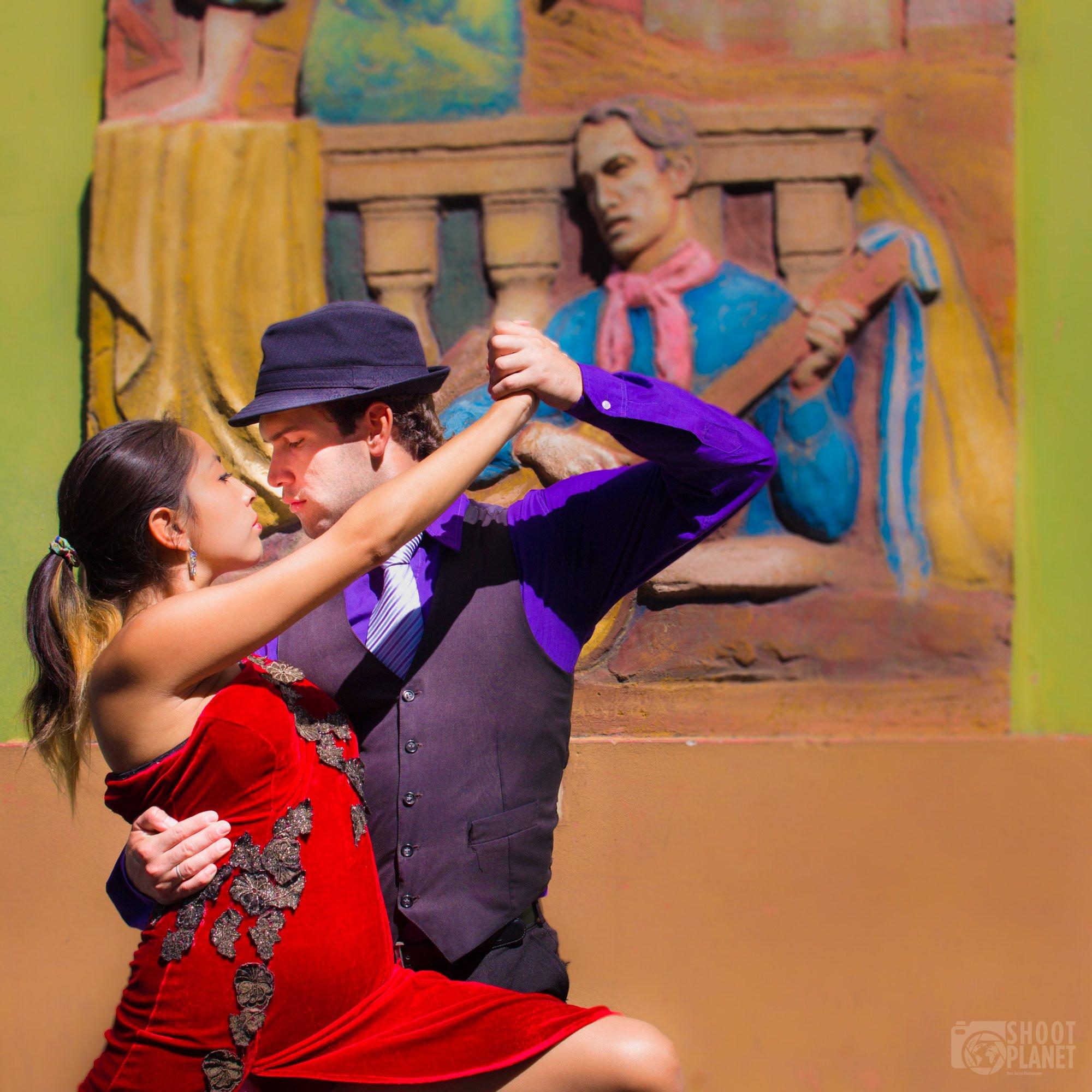 Tango dancers in Buenos Aires Argentina