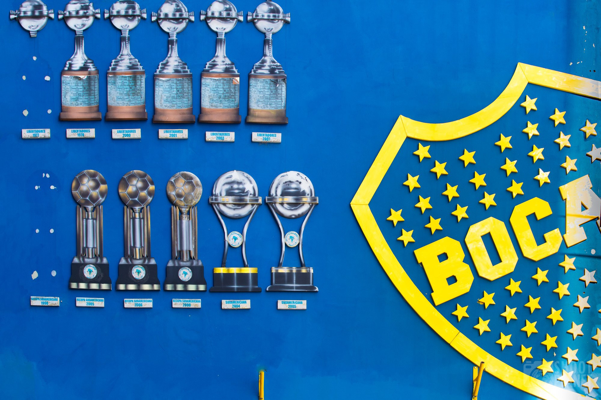 Football cups, La Bocca, Buenos Aires Argentina