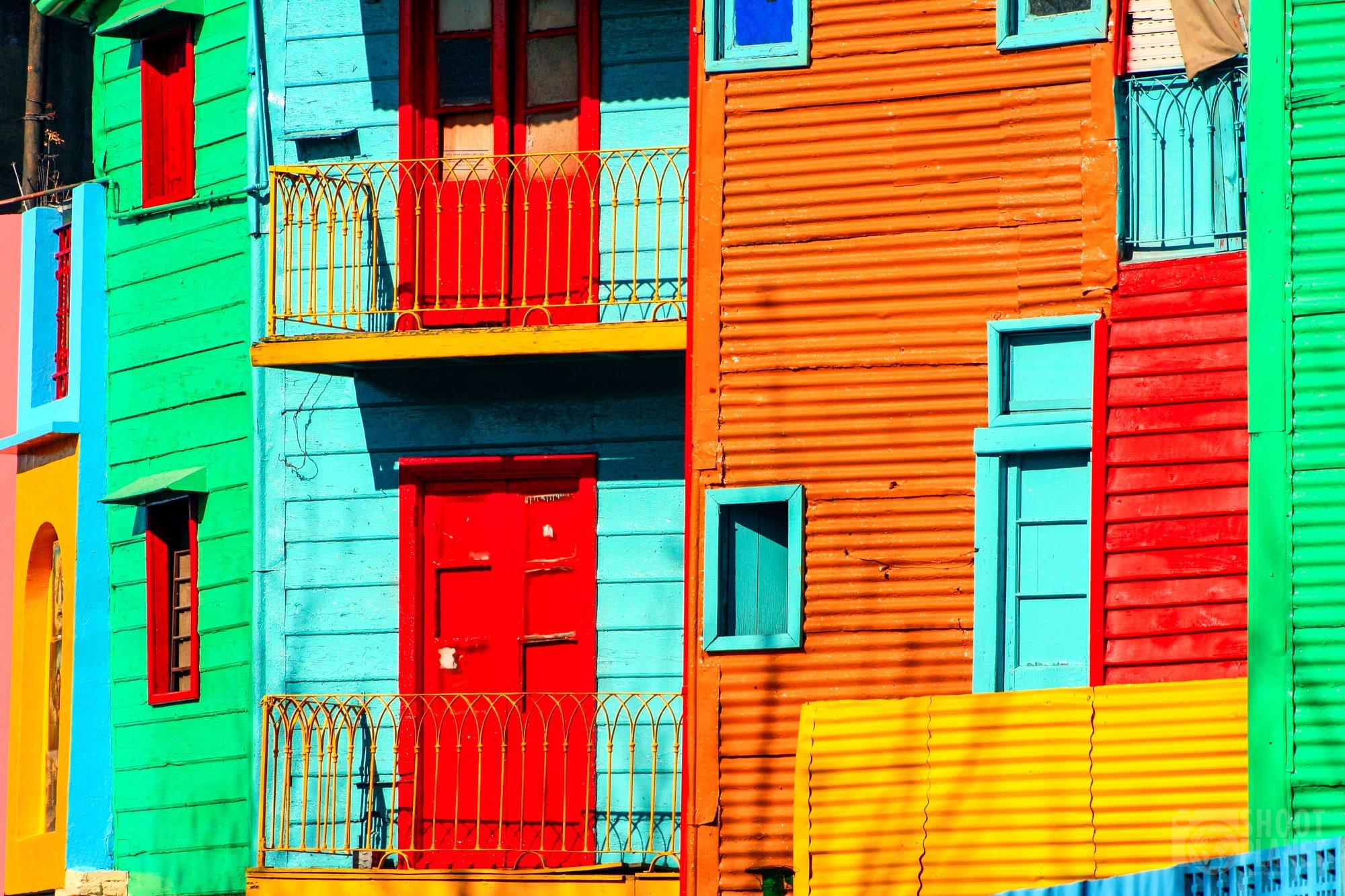 La Boca Caminito facade, Buenos Aires, Argentina