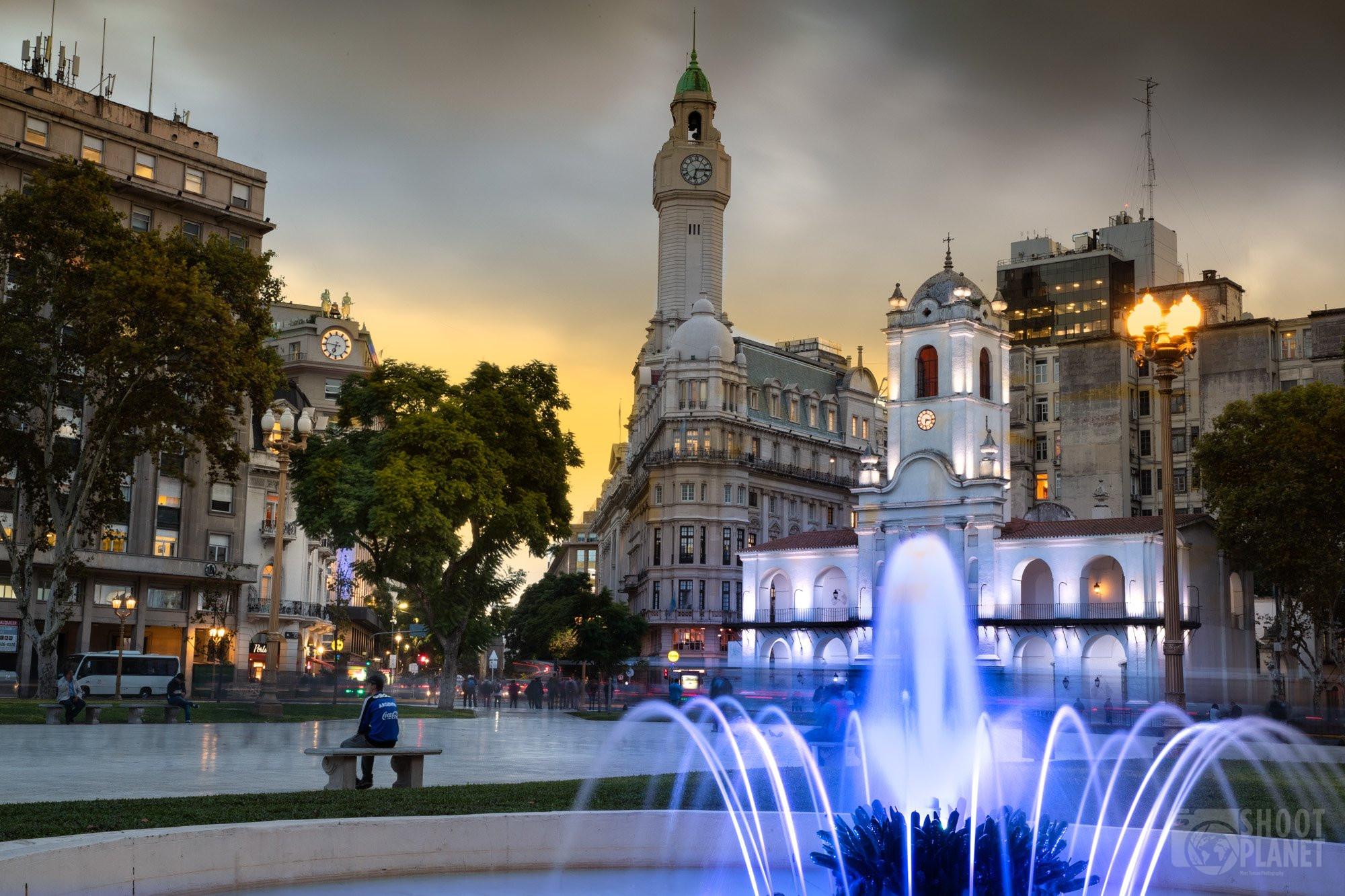 Plaza Mayor Sunset, Buenos Aires , Argentina