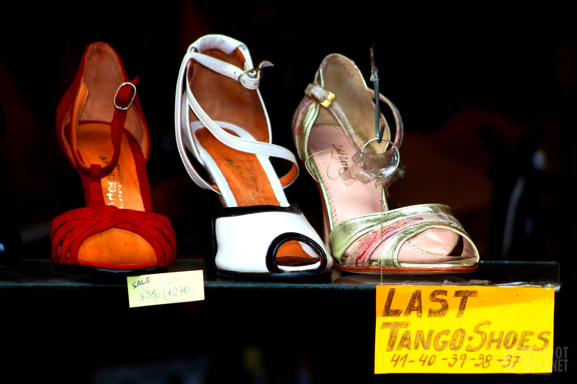 Tango shoes sale in Buenos Aires, Argentina
