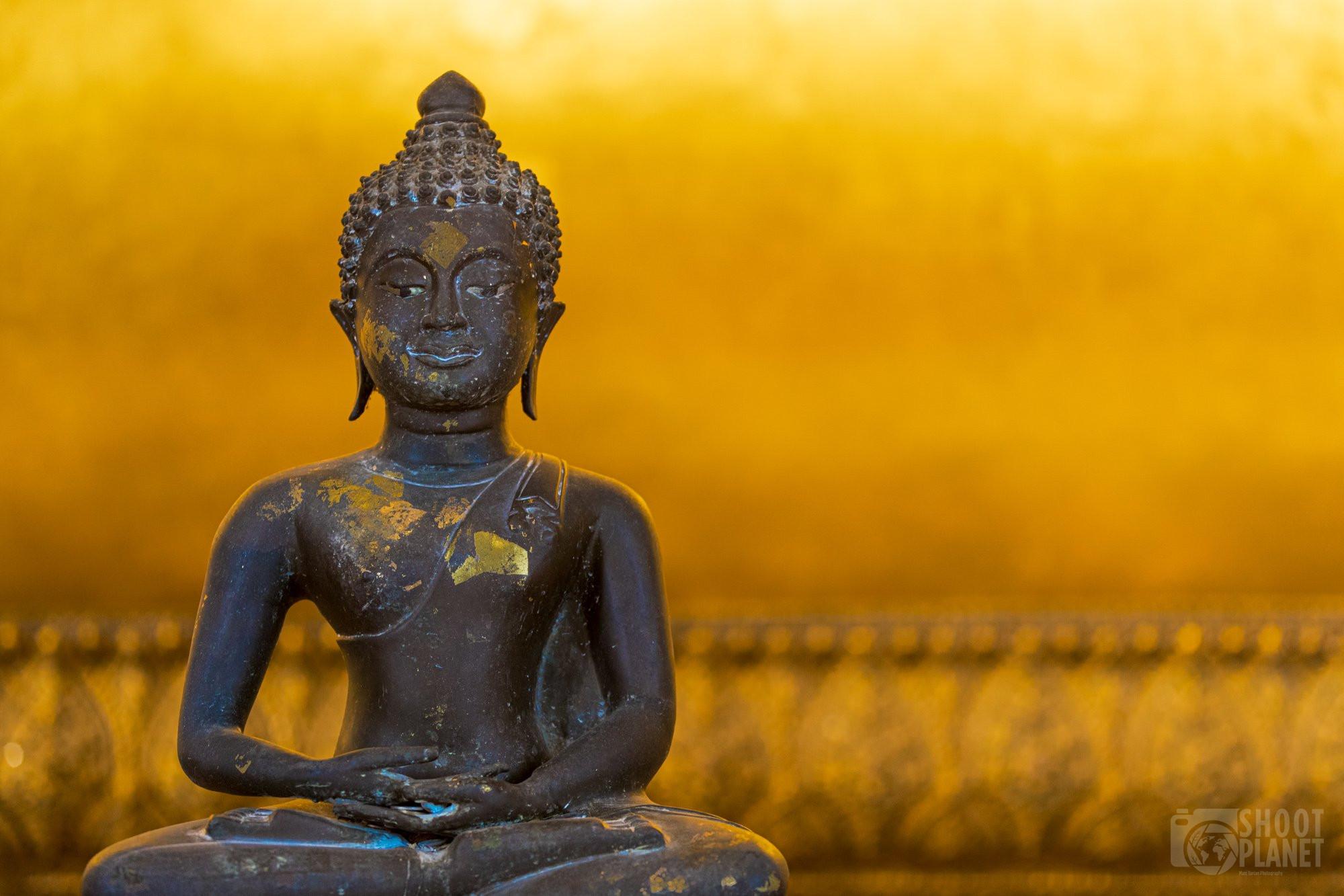 Black gold Buddha, Wat Pho, Bangkok Thailand