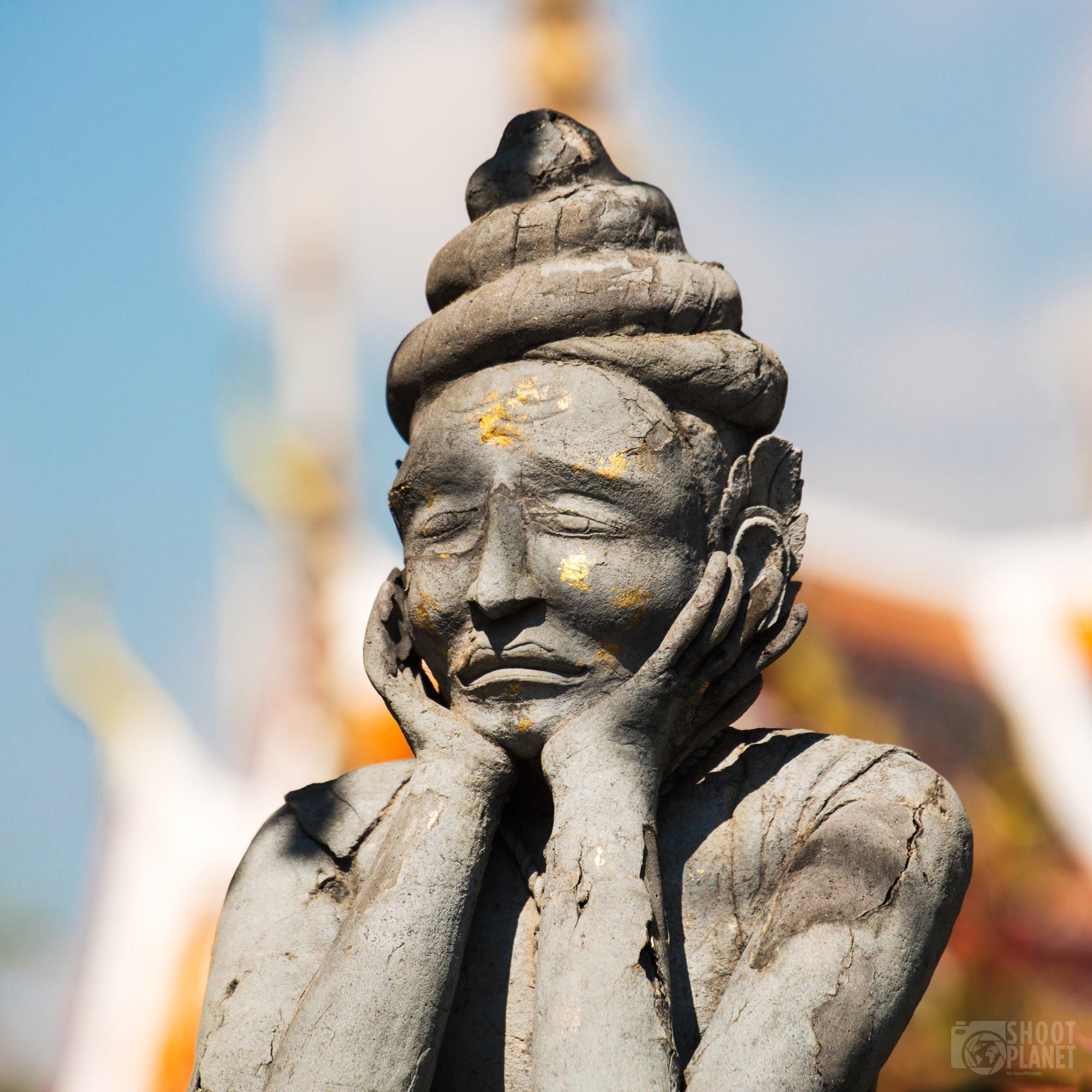 Ancient statue, Wat Phra Kaew, Bangkok Thailand