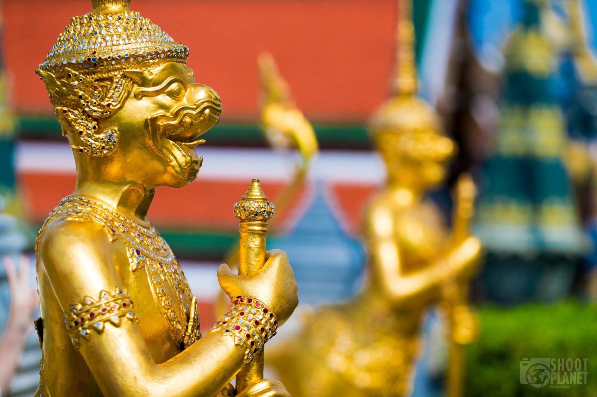 Guardian statues, Wat Phra Kaew, Bangkok Thailand