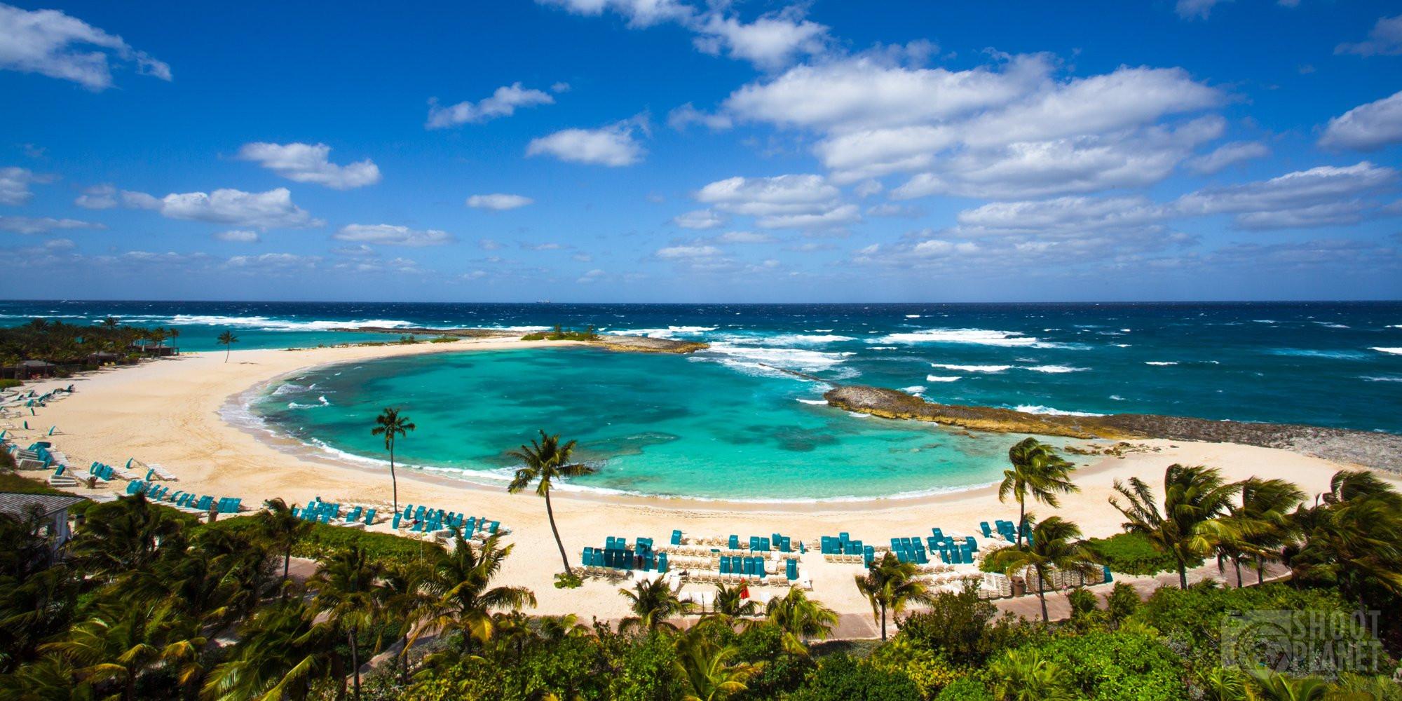 Cove Beach lagoon, Paradise Island, Bahamas