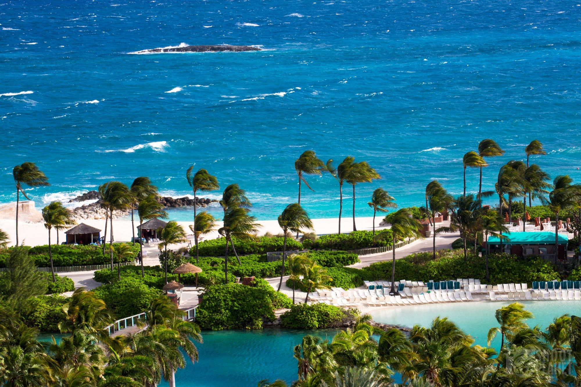 Pool and ocean view, Paradise island Bahamas