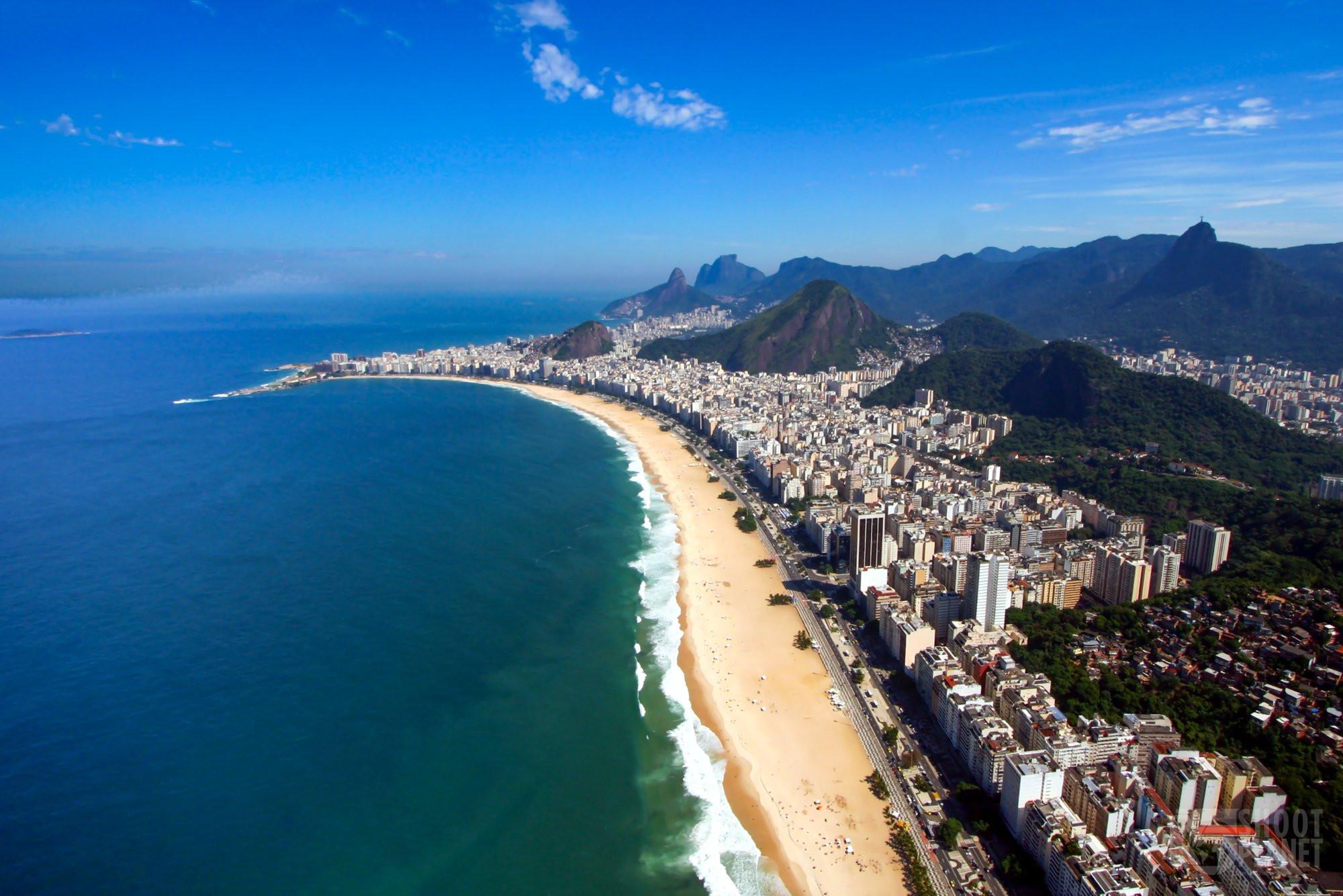 Copacabana Beach aerial view, Rio de Janeiro