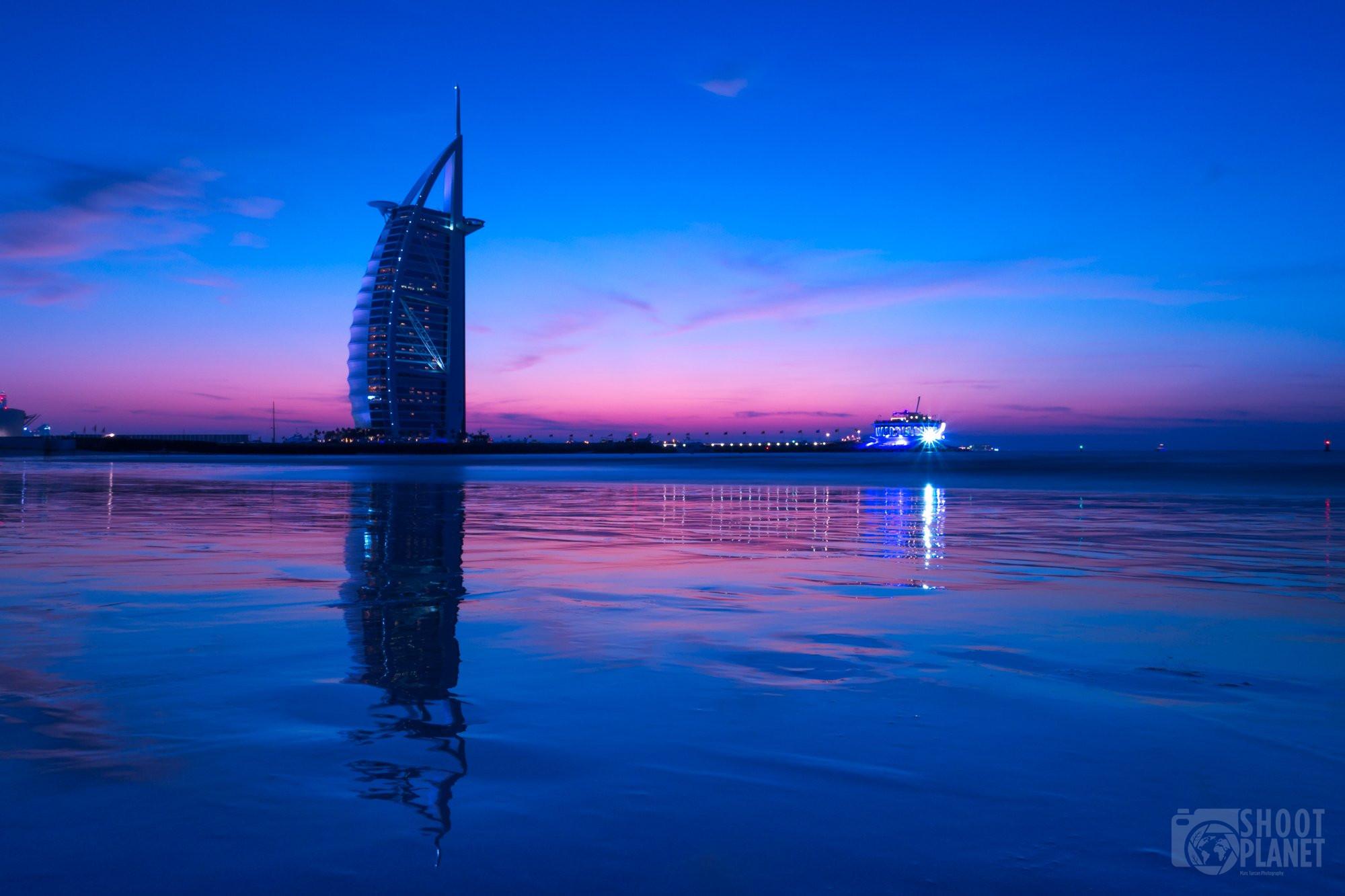 Burj Al Arab twilight reflections, Dubai