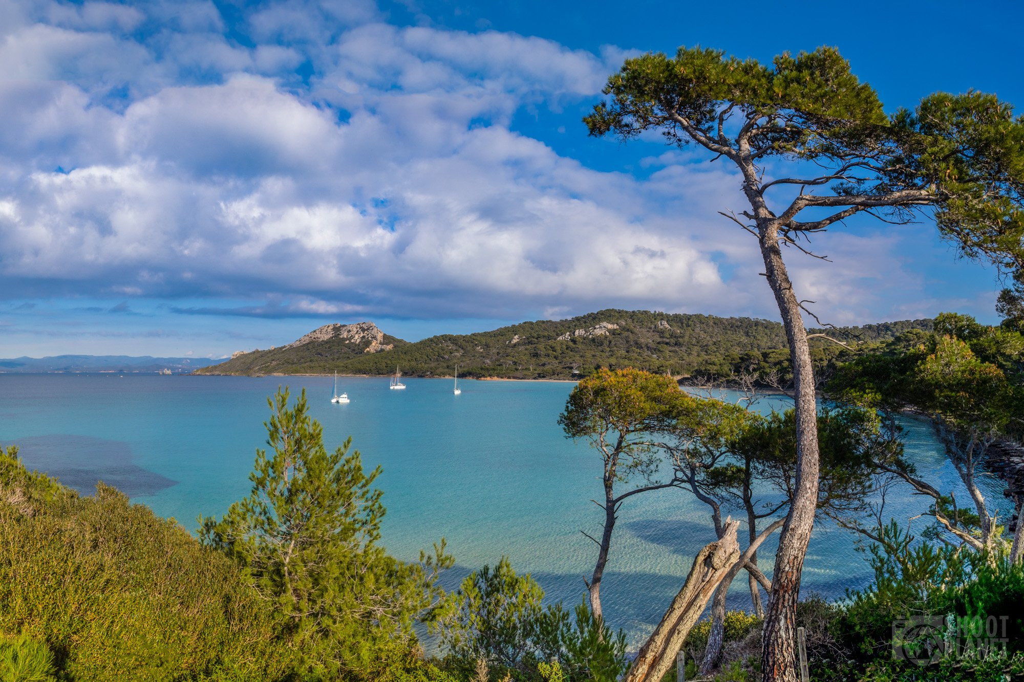 Notre-Dame beach, Porquerolles, Azure coast France