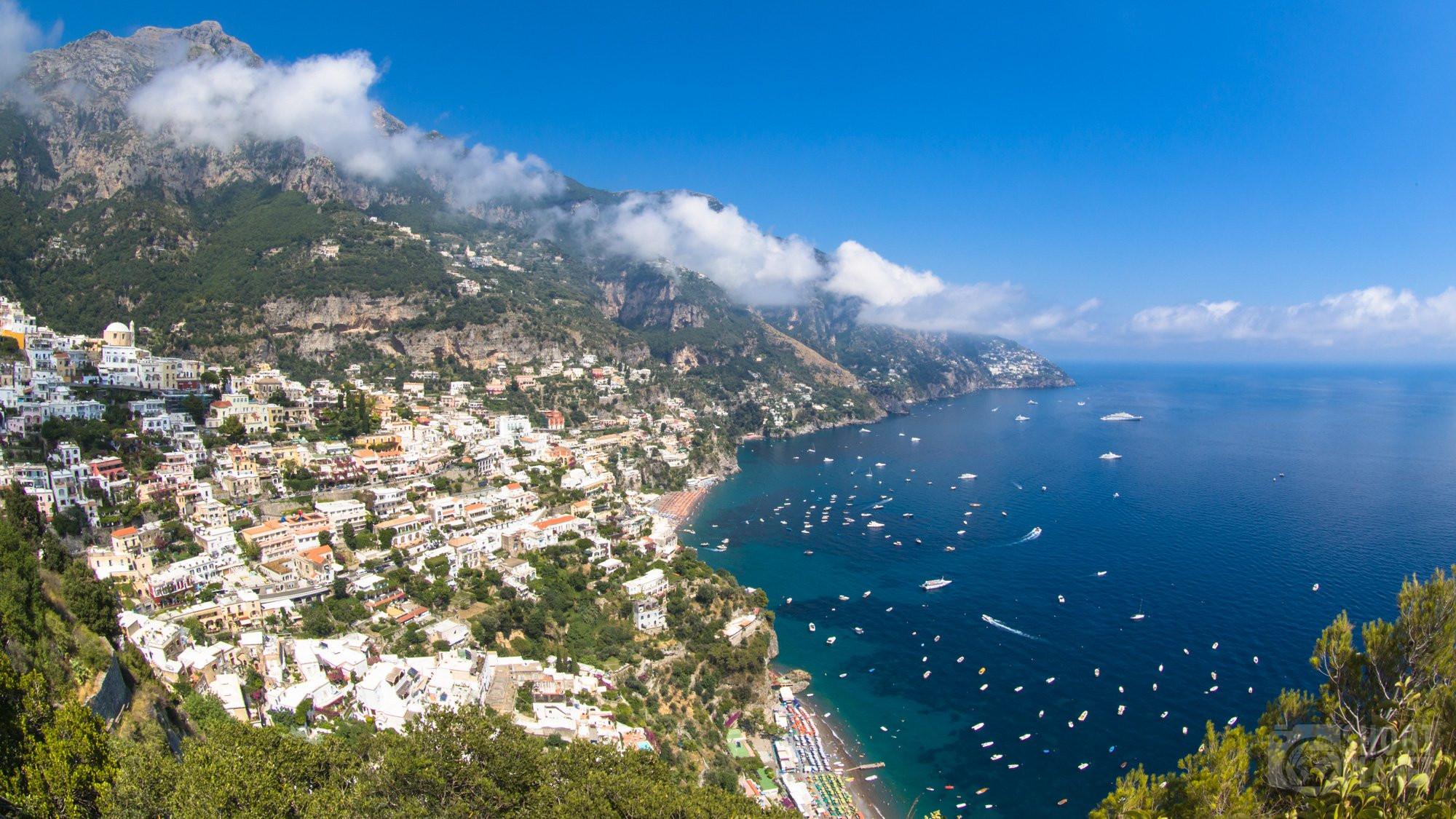 Amalfi coastline and Lattari Mountains, Italy