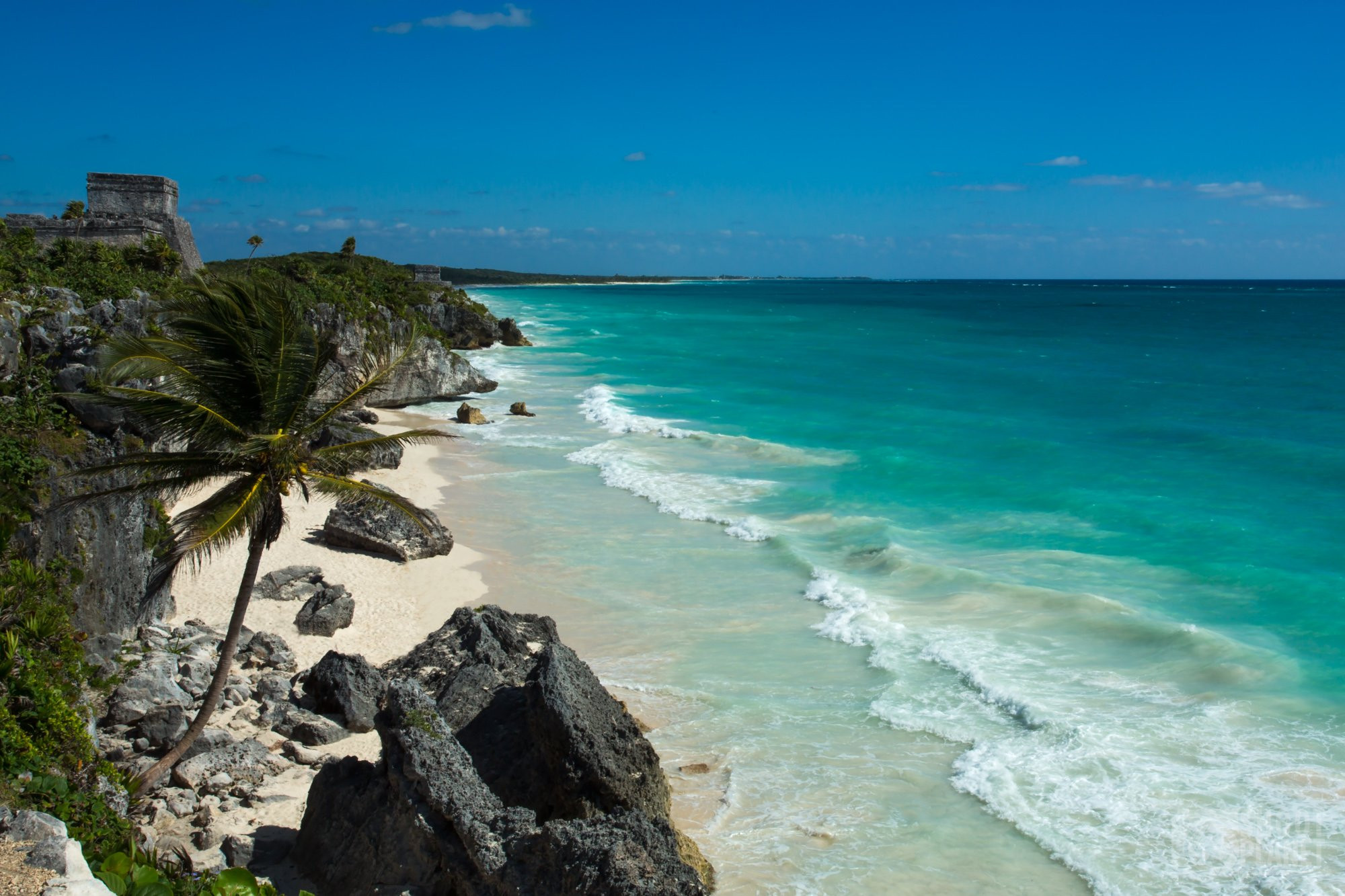 Tulum Mayan temple, Caribbean Sea, Mexico