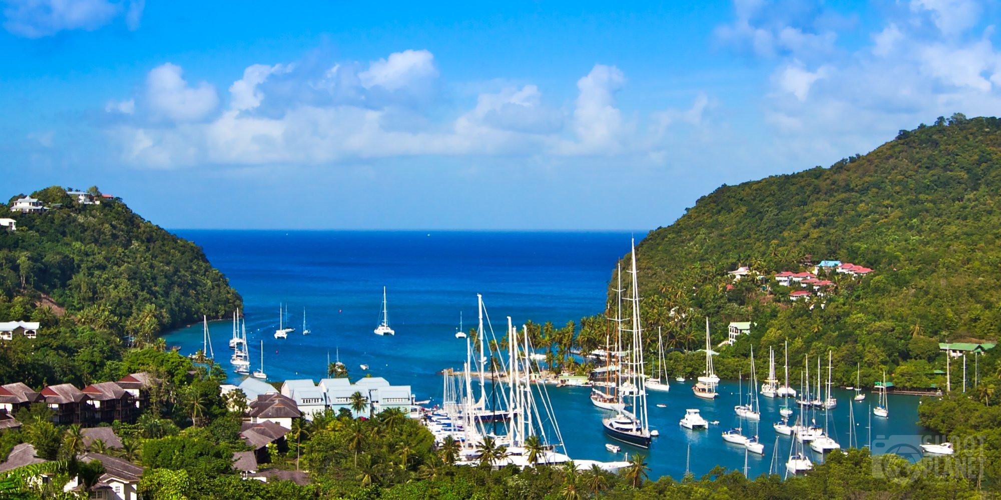 Marigot Bay in Saint Lucia Caribbean Island