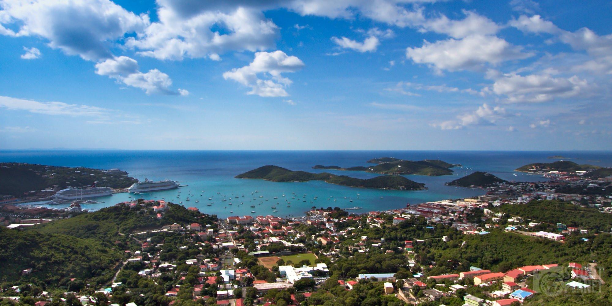 Saint Thomas Virgin Island aerial view, Caribbean