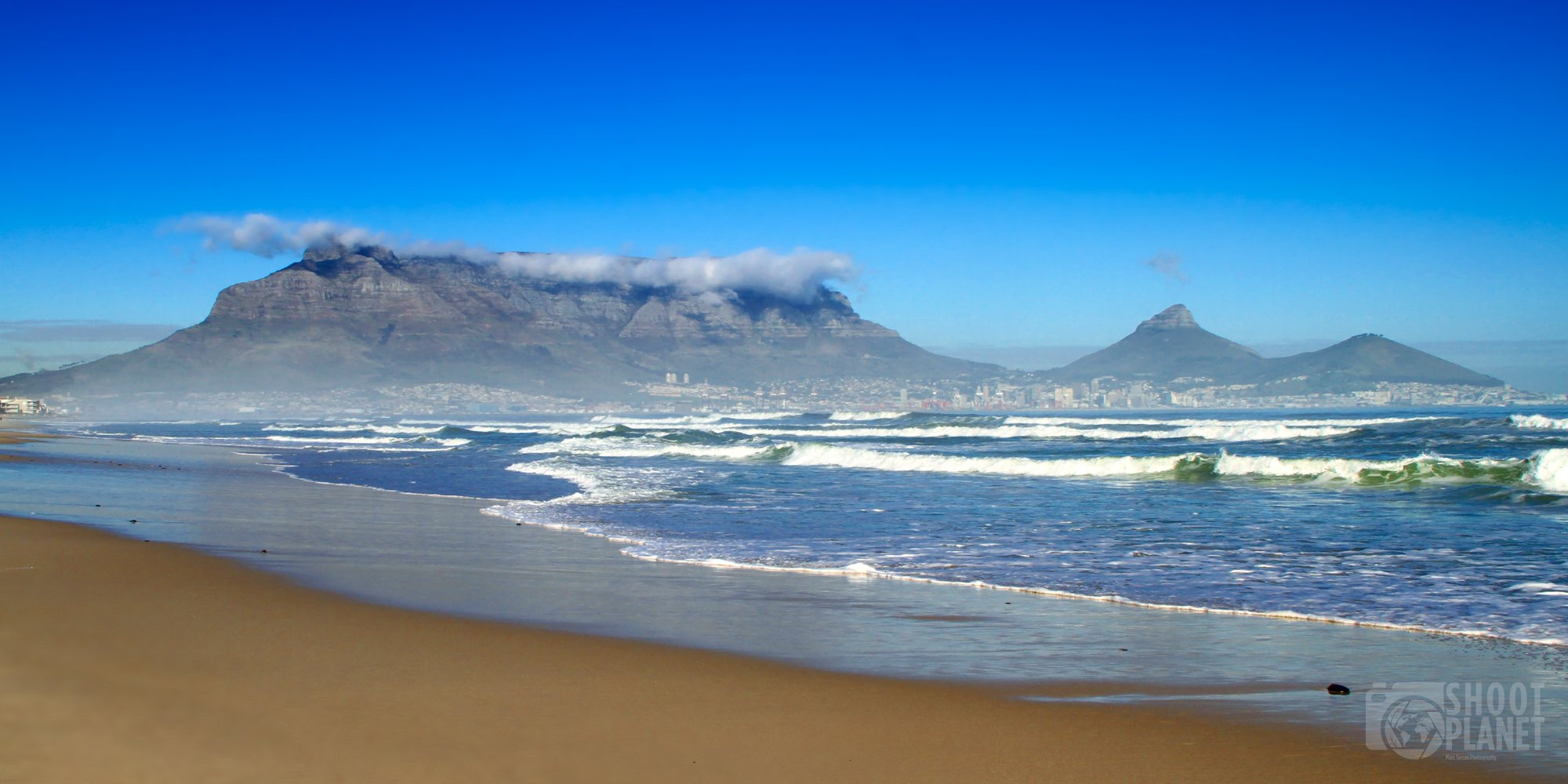 Table Mountain and Dolphin Beach, Cape Town