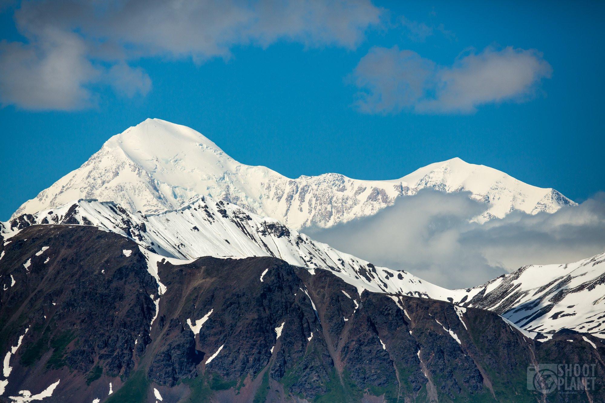 Denali mountain close-up view, Alaska USA
