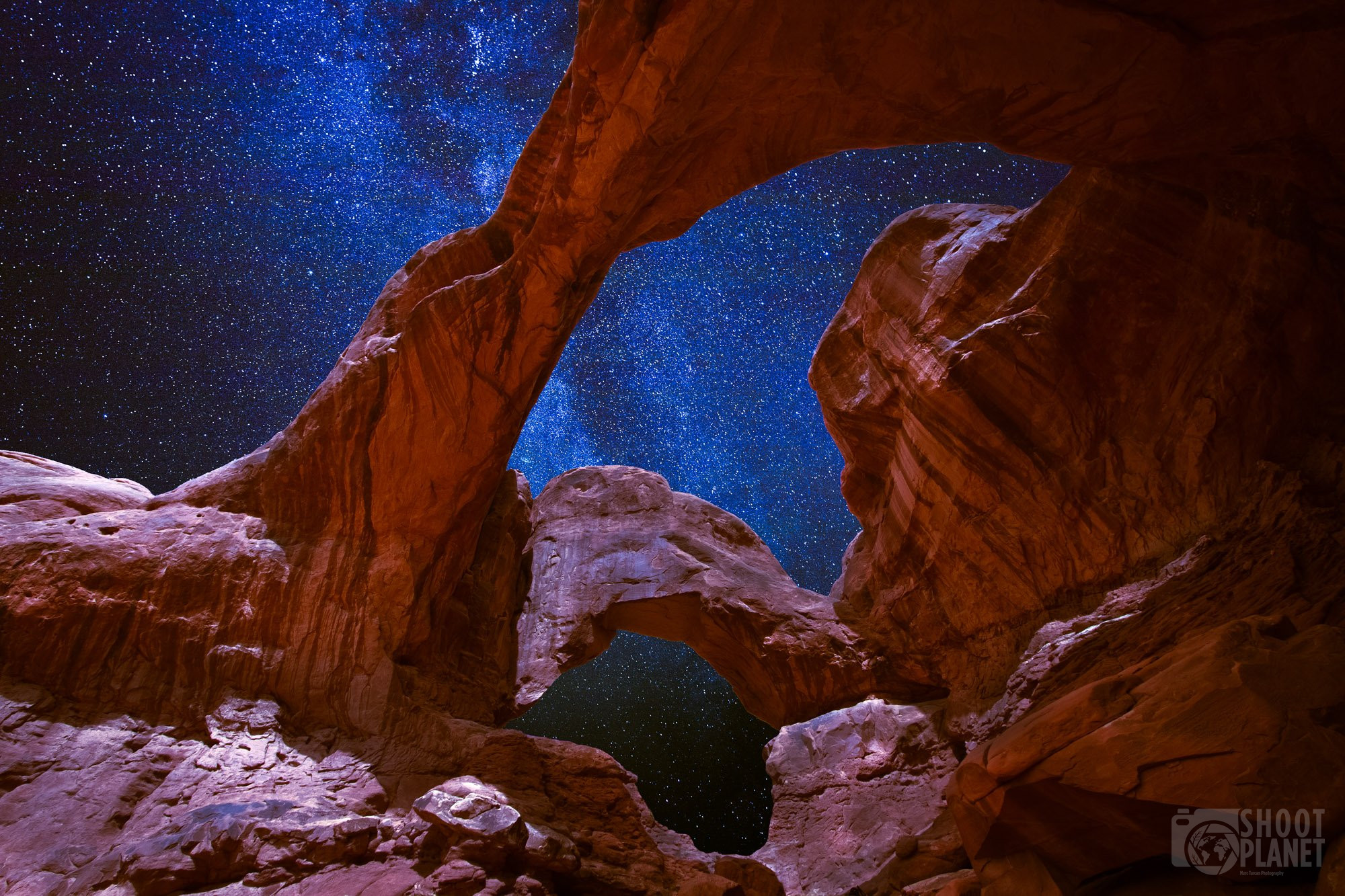 Double Arch Milky Way, Arches , Utah USA
