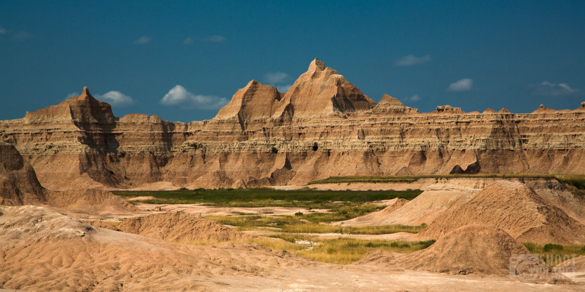 Badlands National Park mountains, South Dakota USA