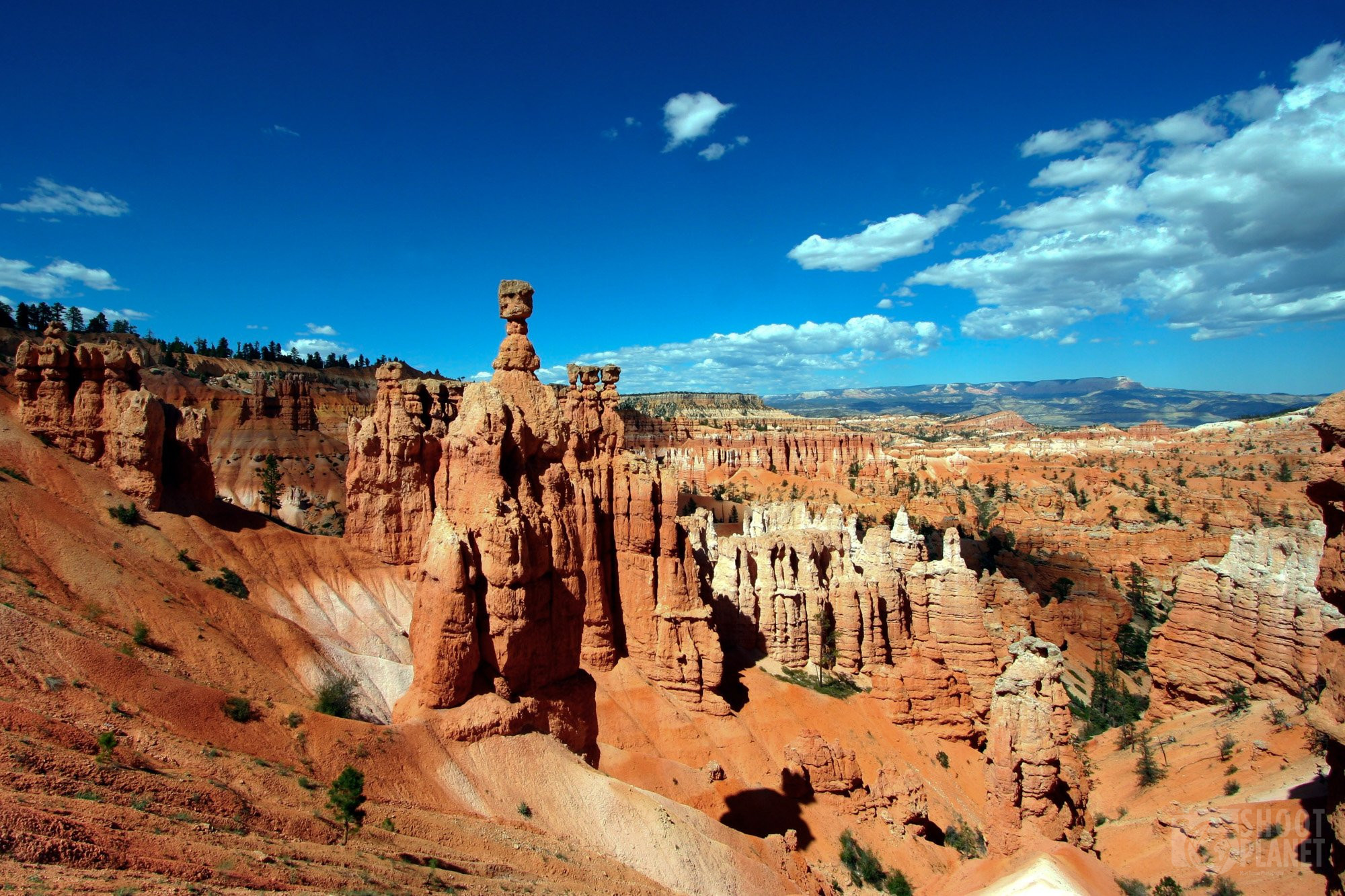 Sunset rock formation colors, Bryce Canyon USA