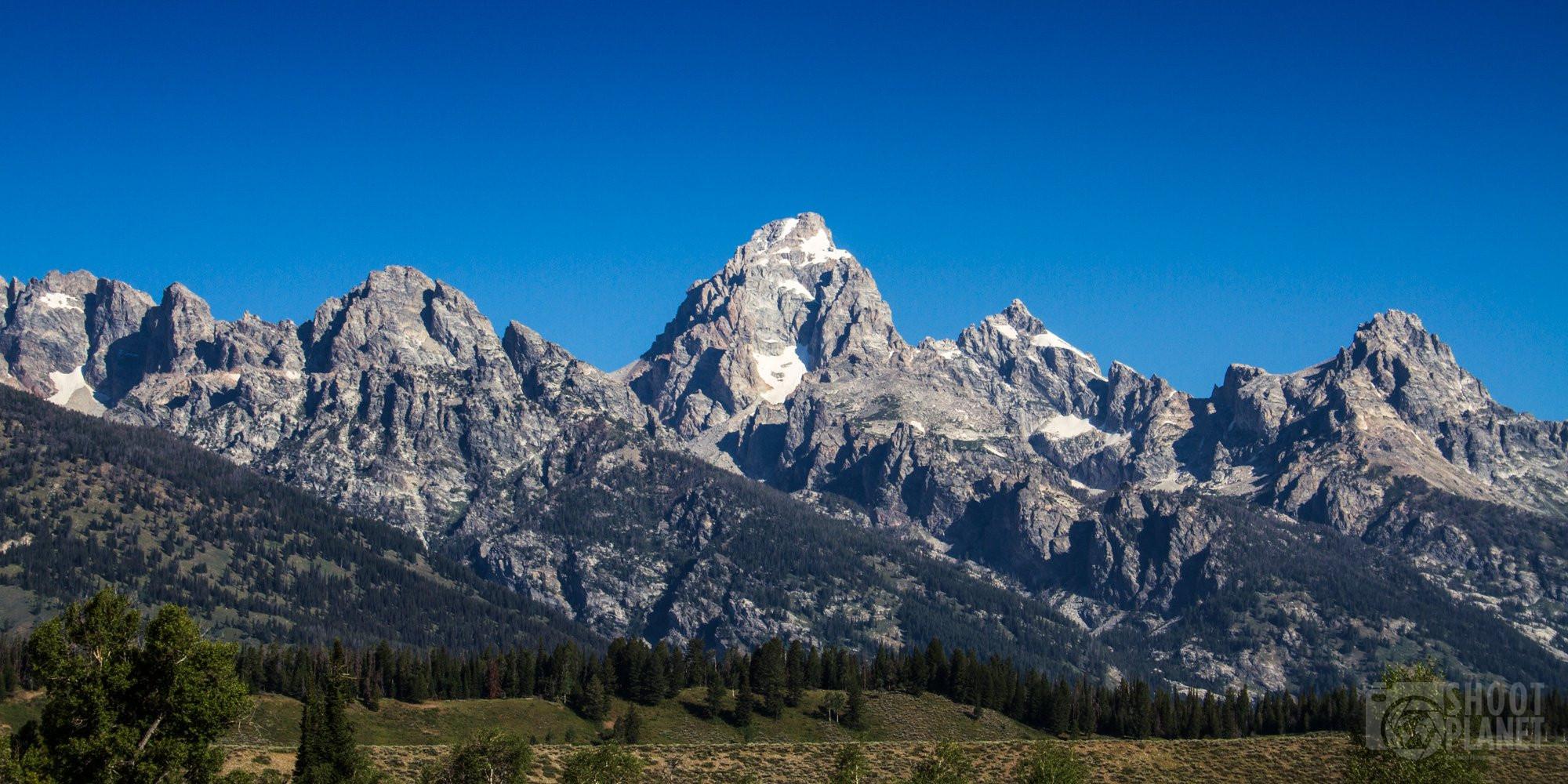 Grand Teton National Park mountains, Wyoming, USA