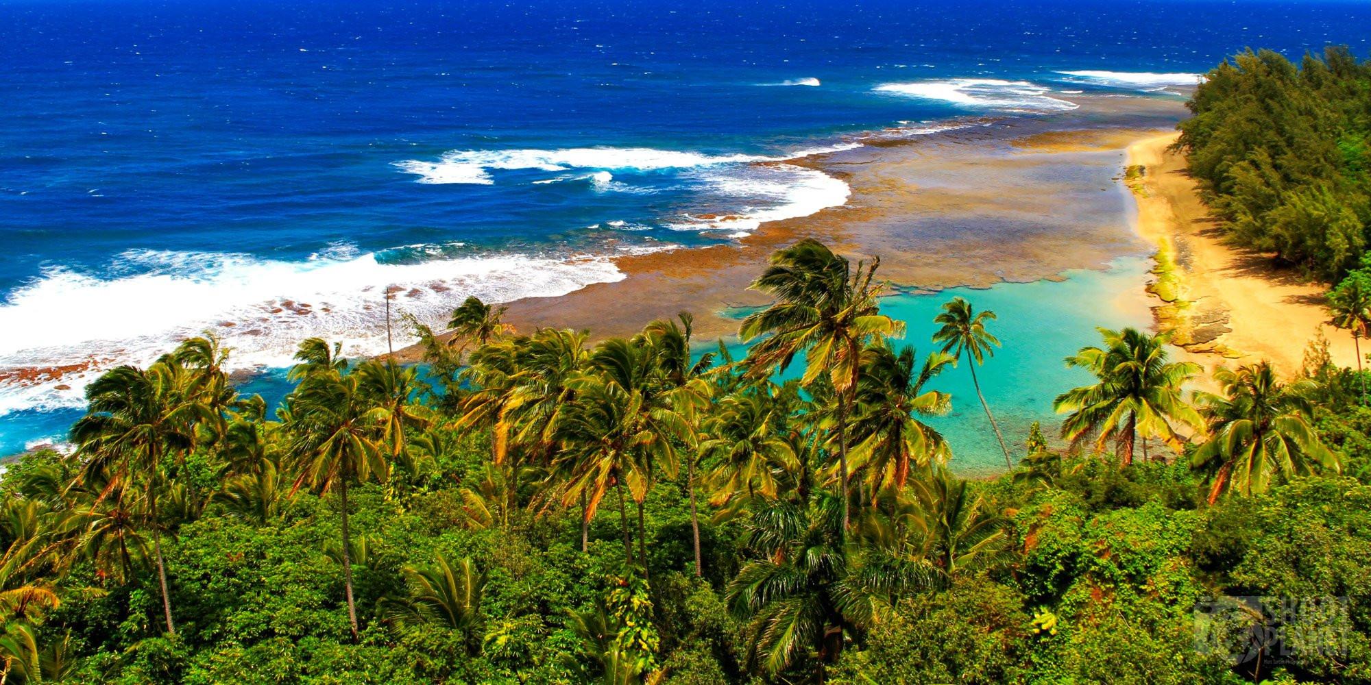 Kee Beach in Kauai Island, Hawaii