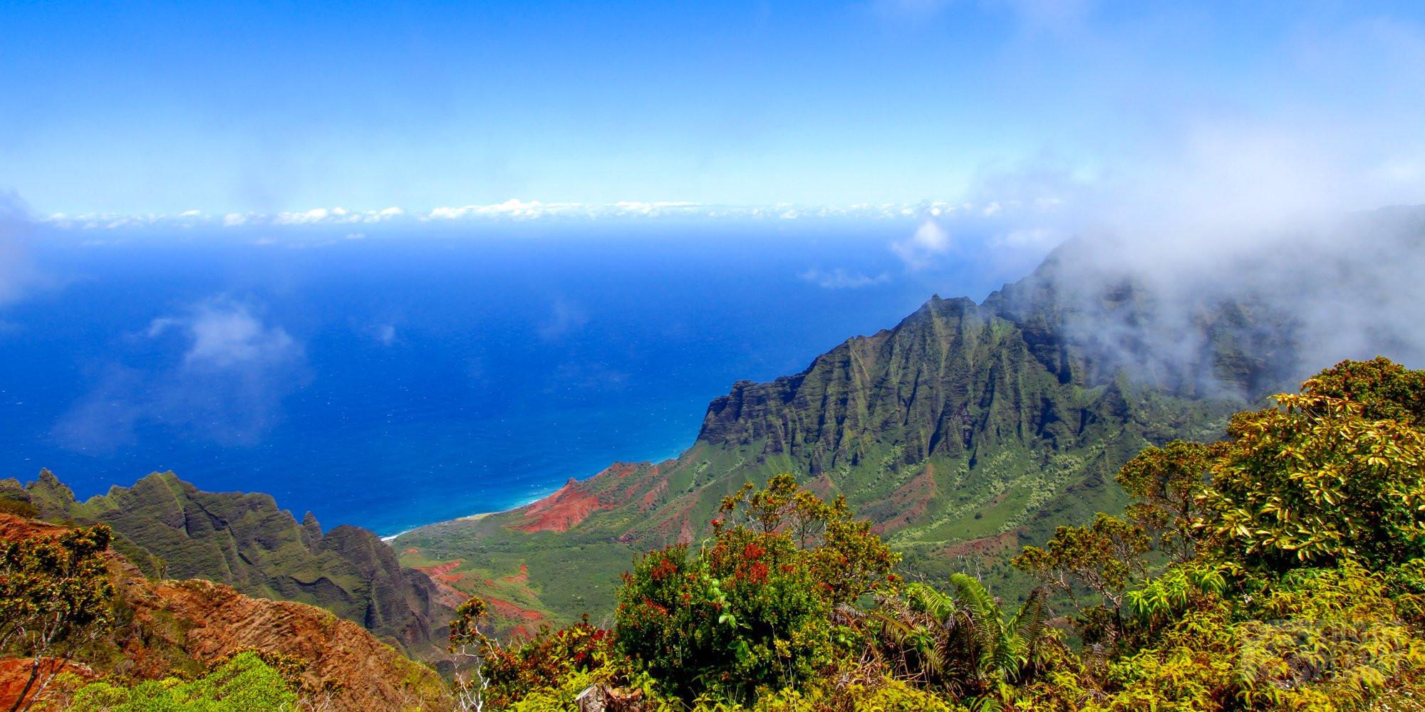 Kalalau Valley in Kauai Island, Hawaii