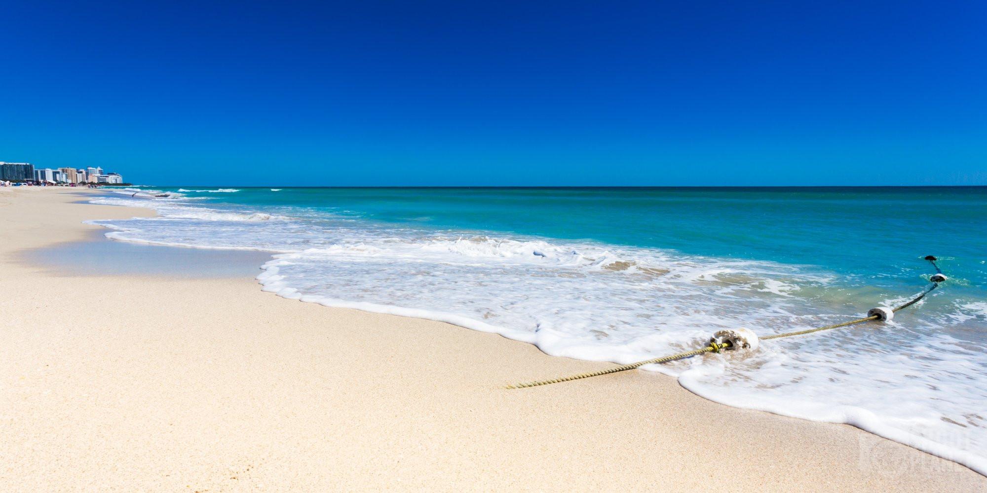 South Beach white sand, Miami Beach, Florida