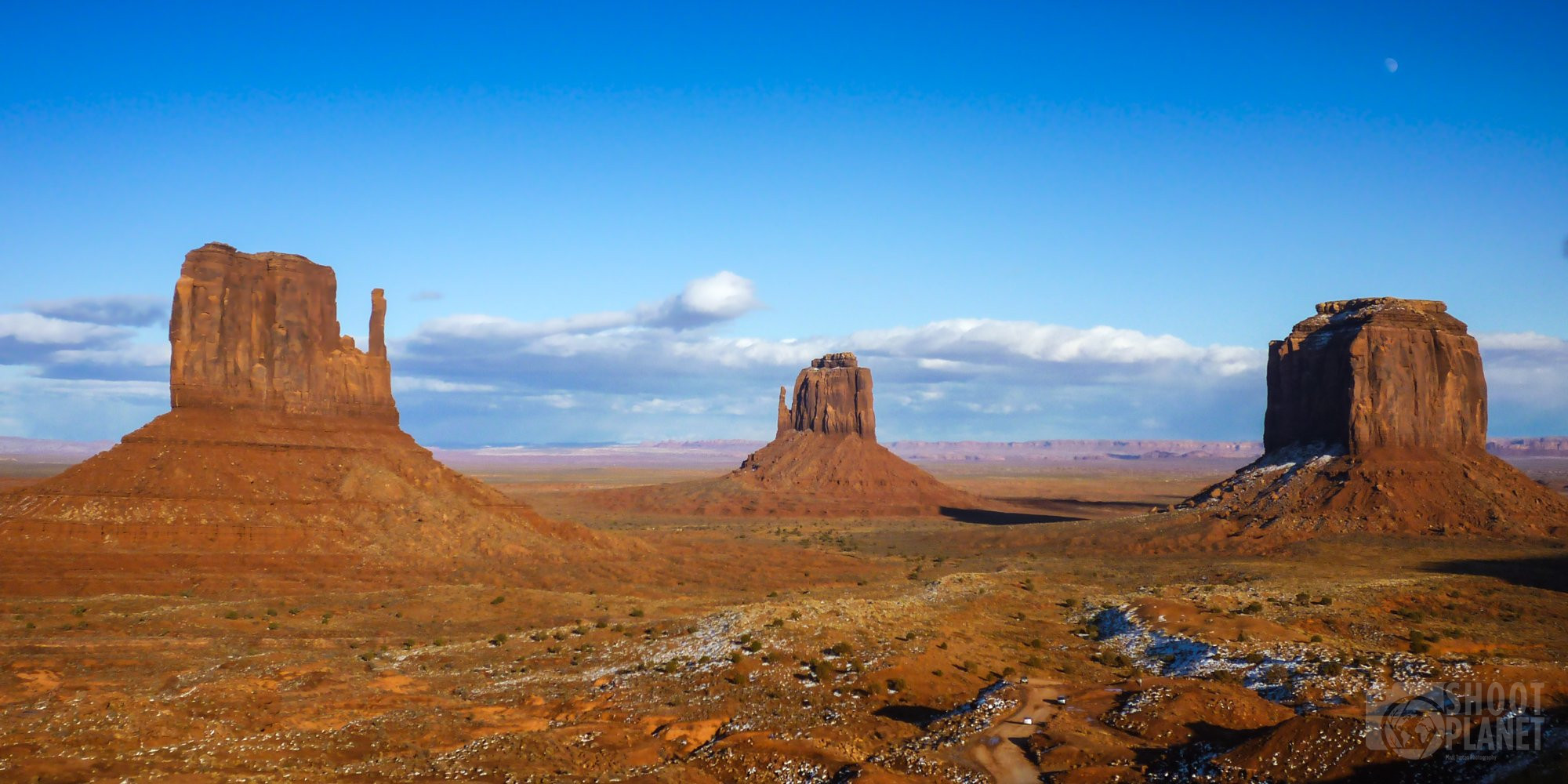 Monument Valley buttes sunset light, USA