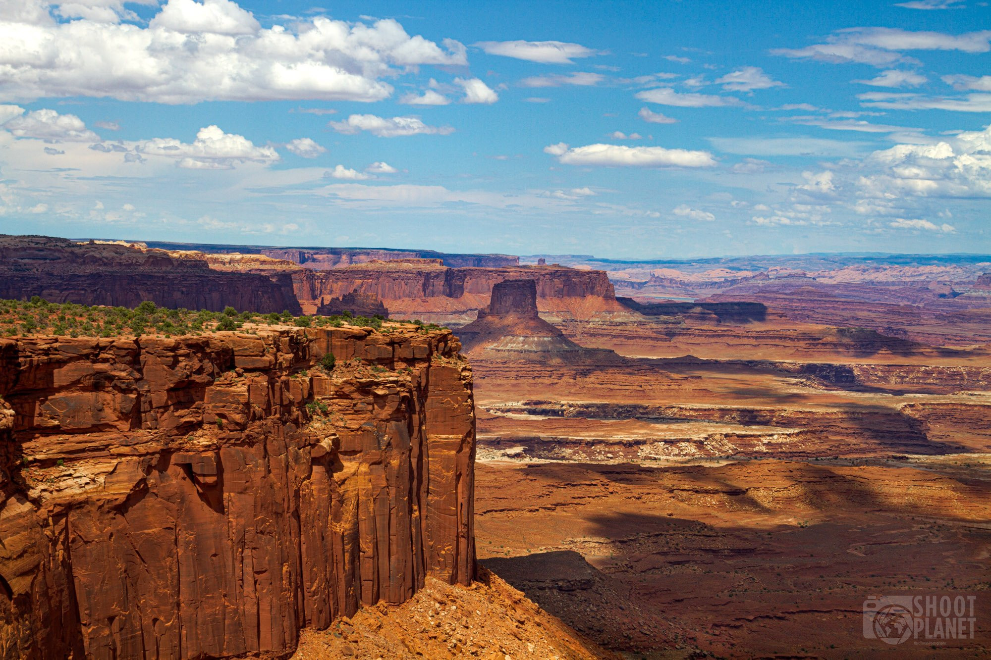 Red cliffs in Canyonlands National Park, Utah