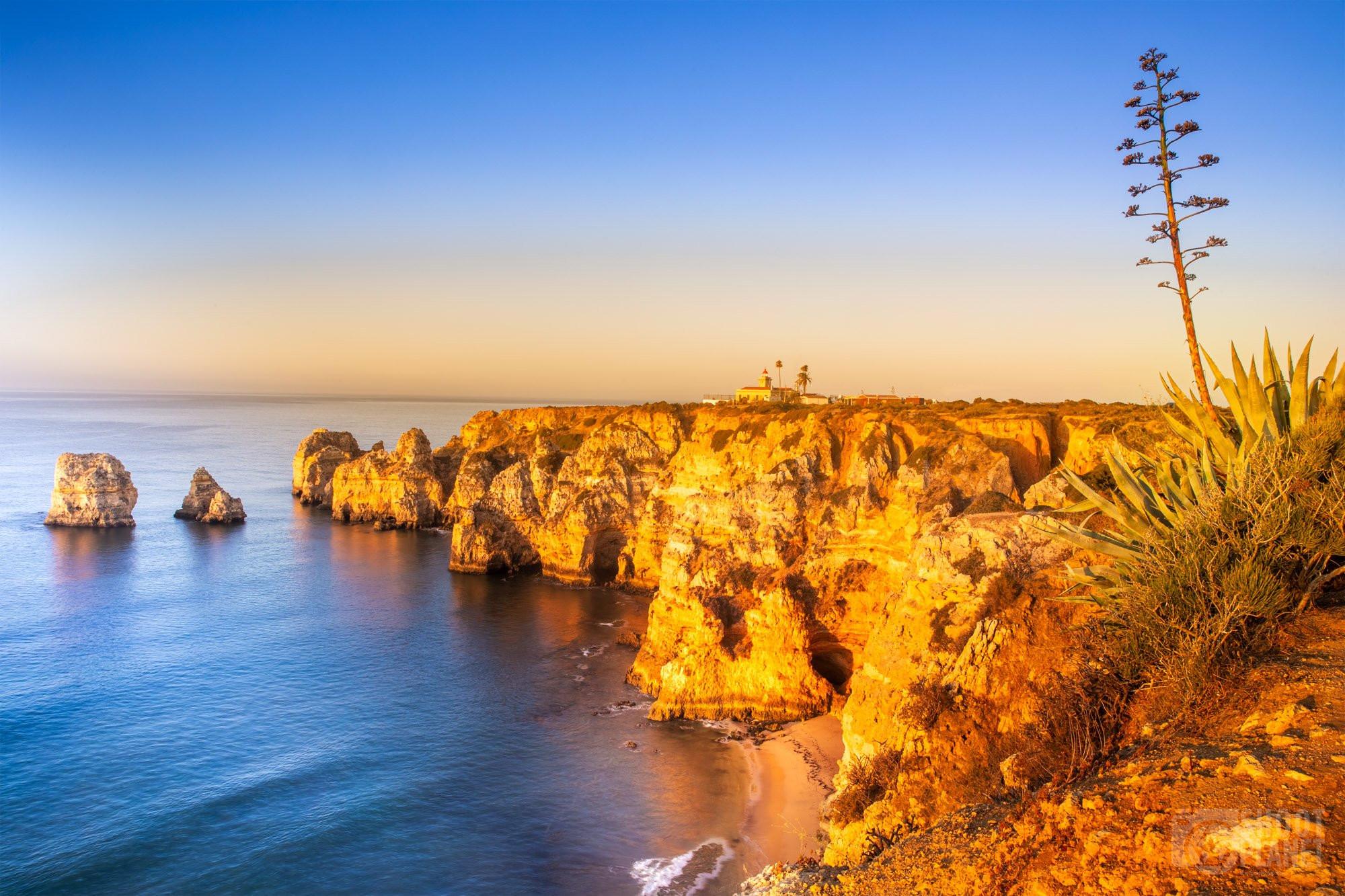 Ponta da Piedade coastline, Algarve Portugal