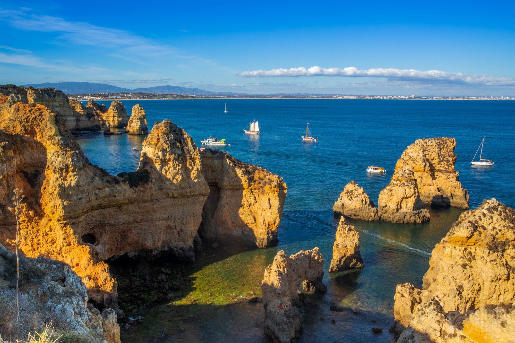 Ponta da Piedade cliffs, Algarve Portugal