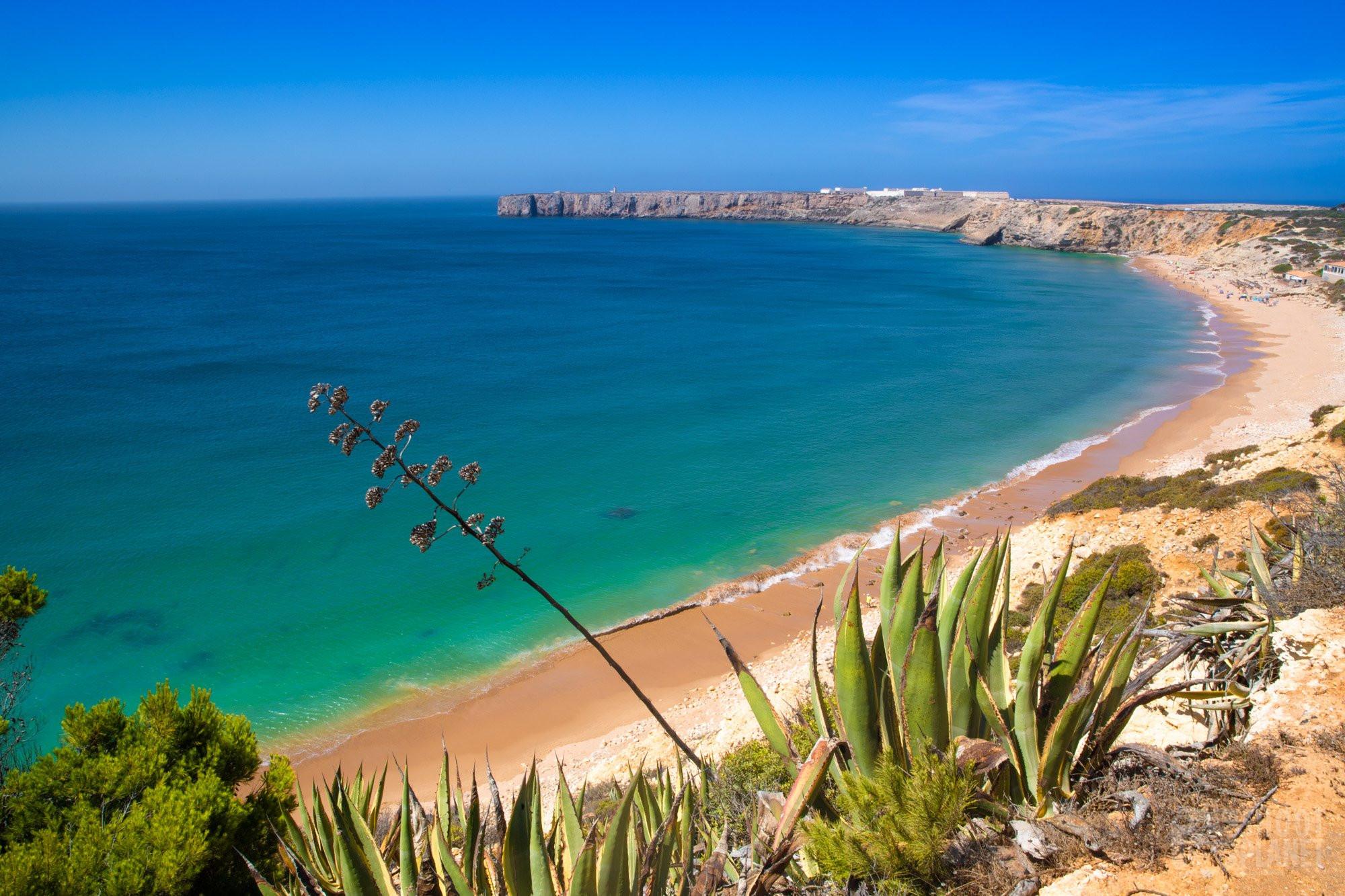 Sagres fort and Mareta beach, Algarve Portugal