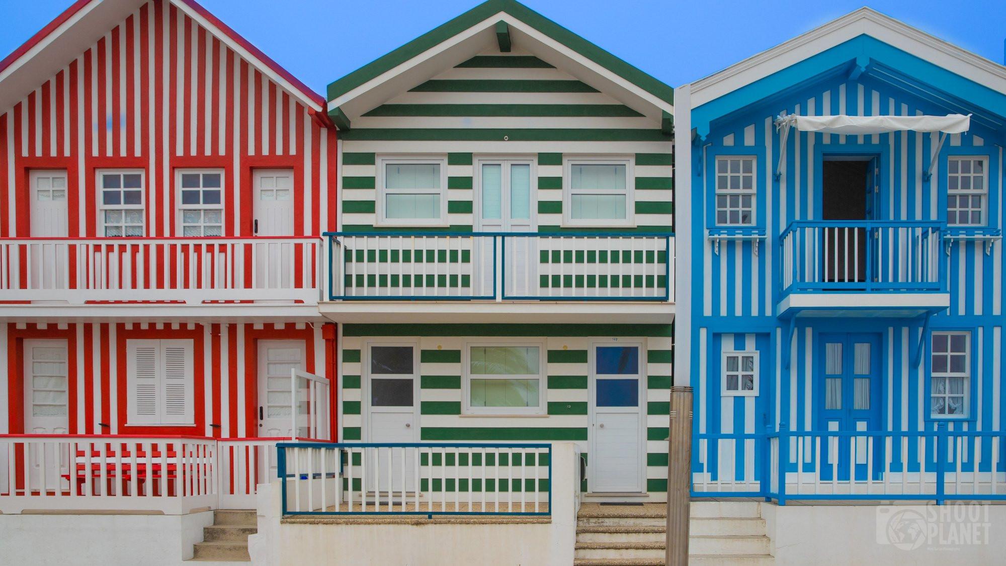 Costa Nova beach houses, Aveiro Portugal