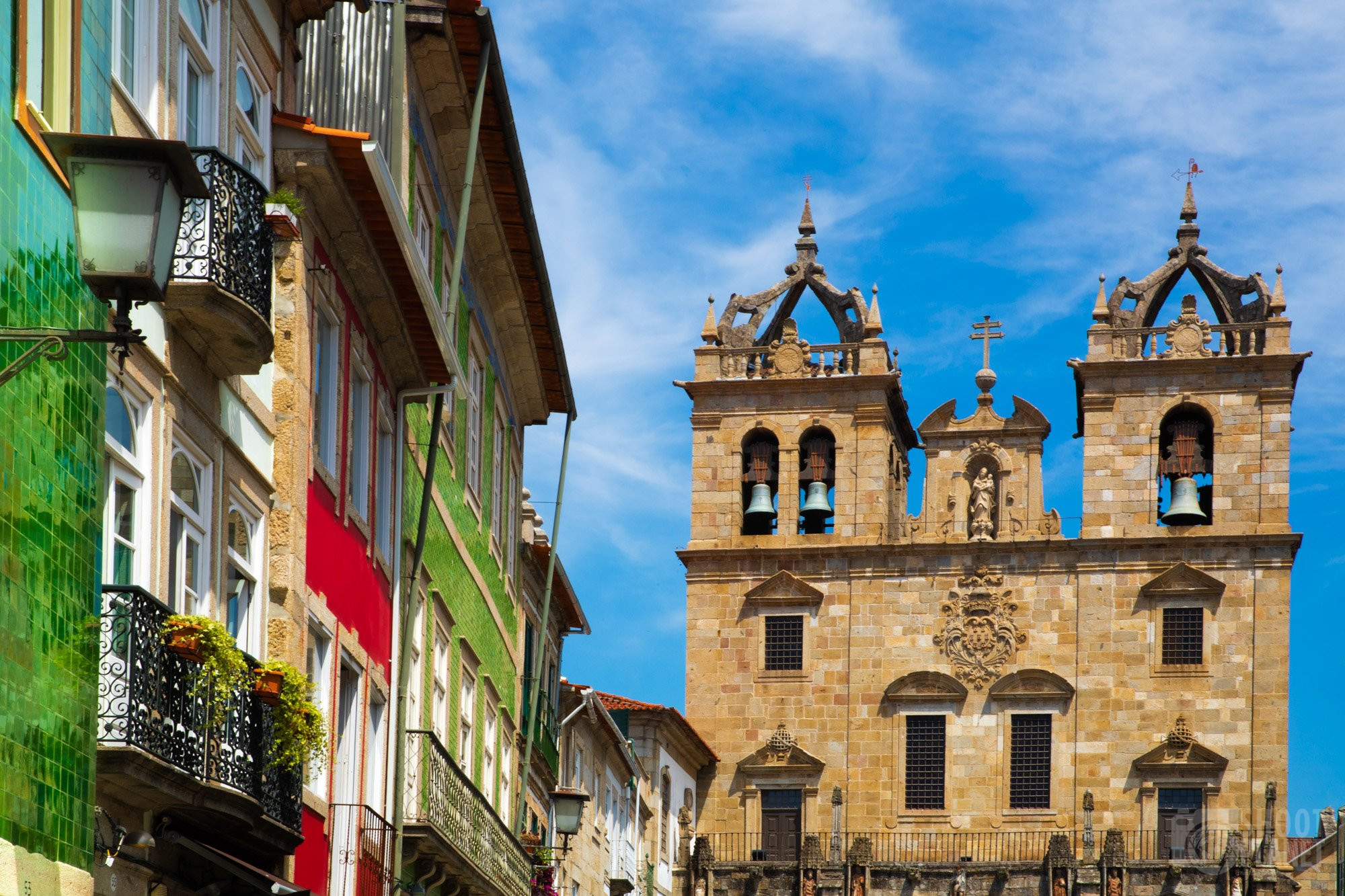 Baroque Cathedral, in Braga Portugal, Europe