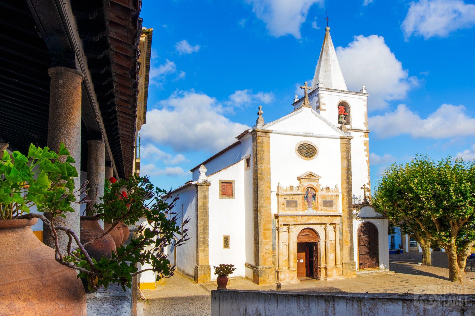Ancient Santa Maria church, Obidos Portugal