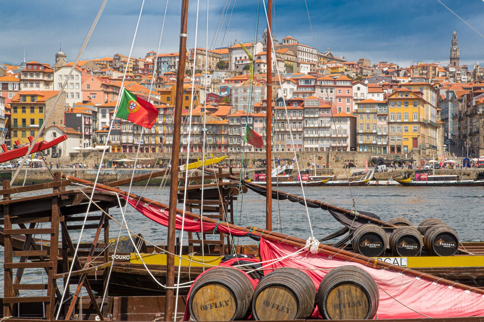 Old town and boats. Porto, Portugal