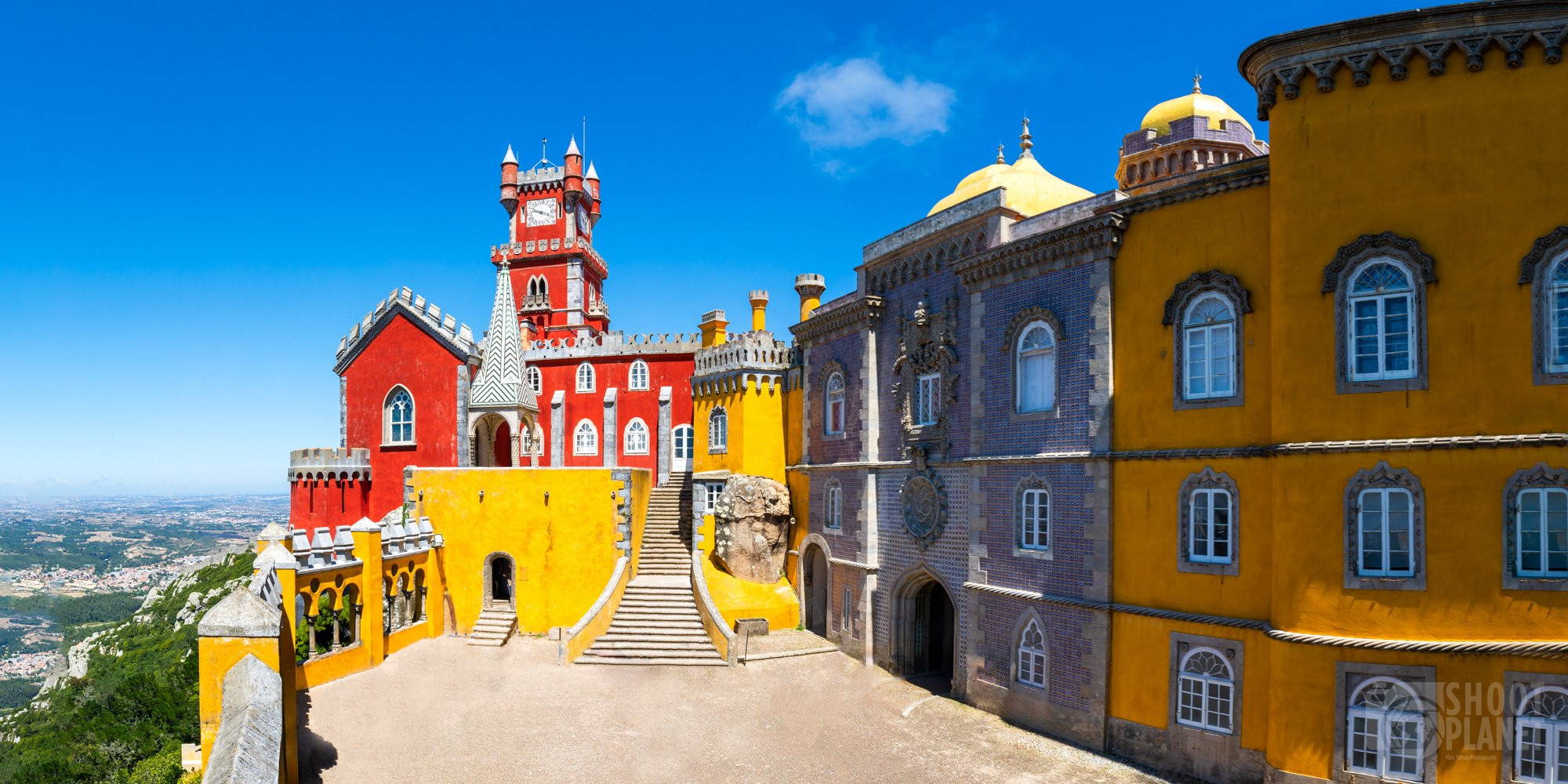 Beautiful Pena Palace view in Sintra, Portugal