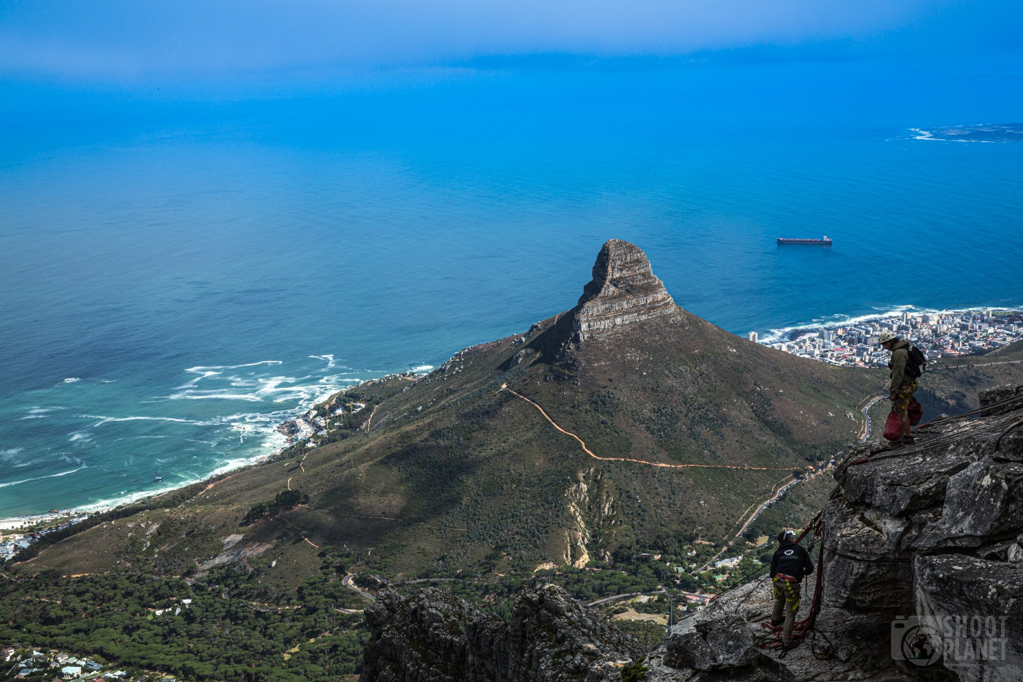 Table mountain climbers, South Africa