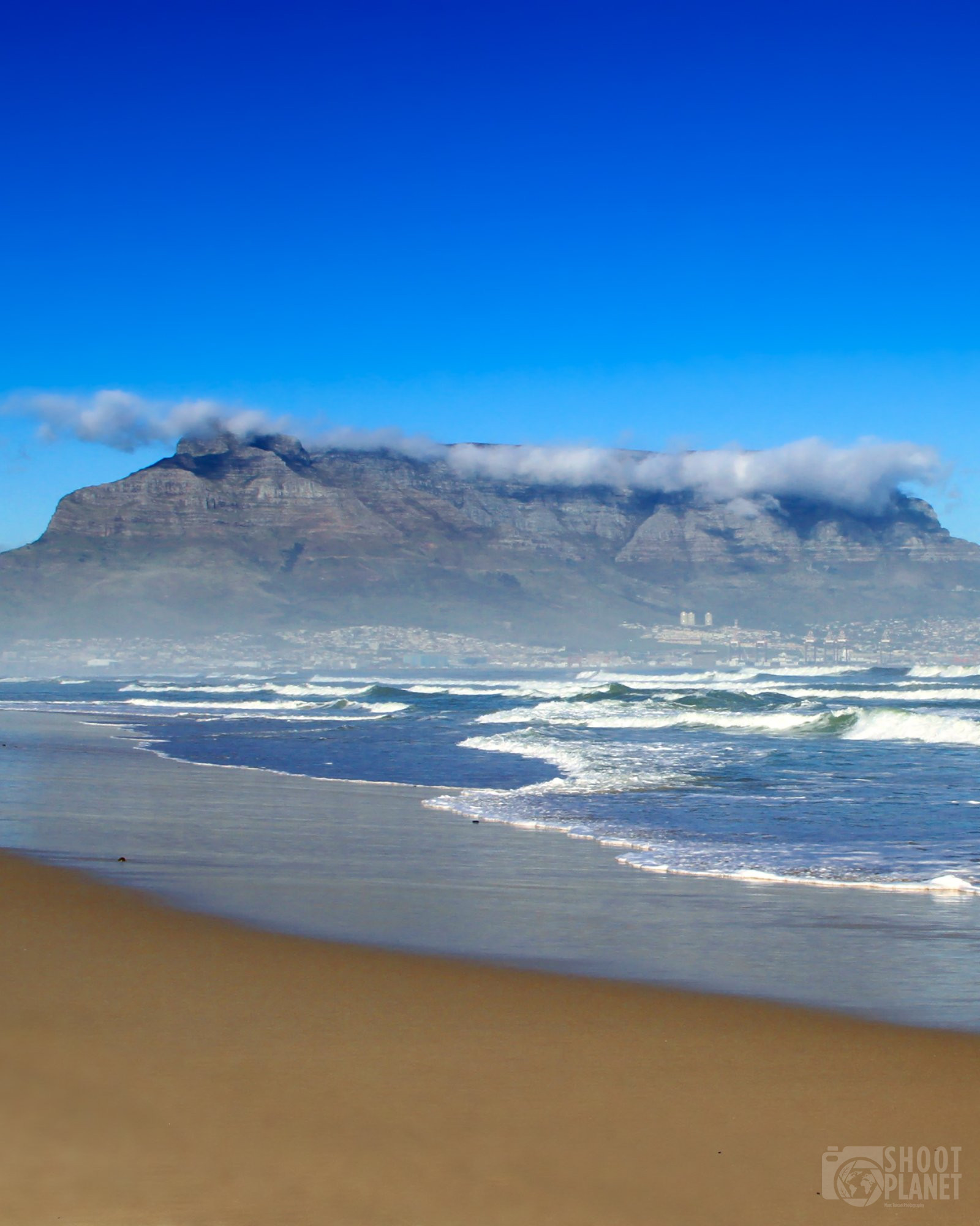 Table Mountain from Dolphin Beach, Cape Town