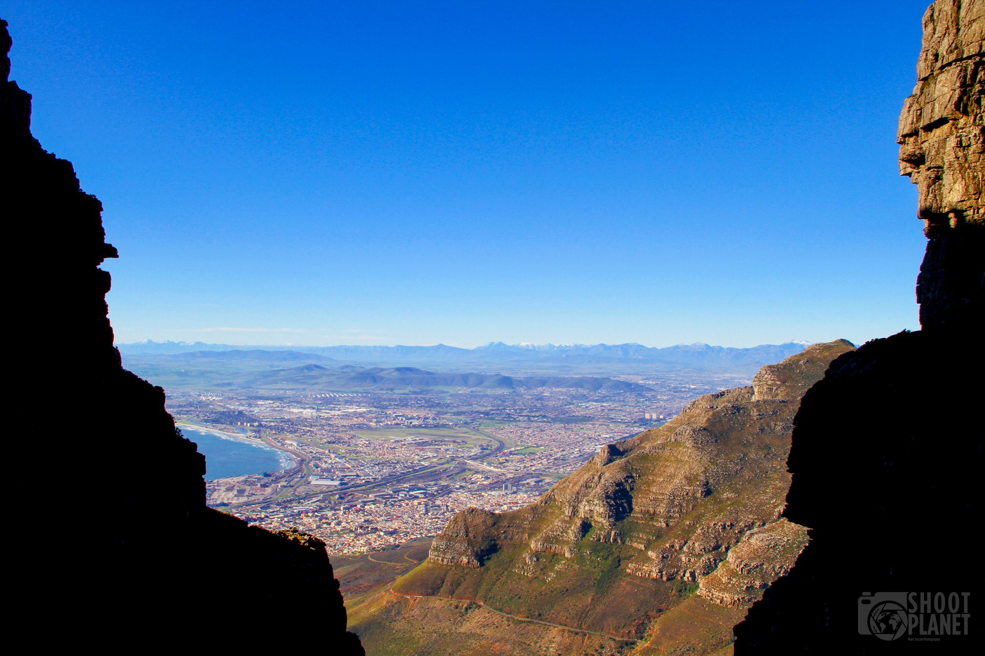 Cape Town from table mountain, South Africa