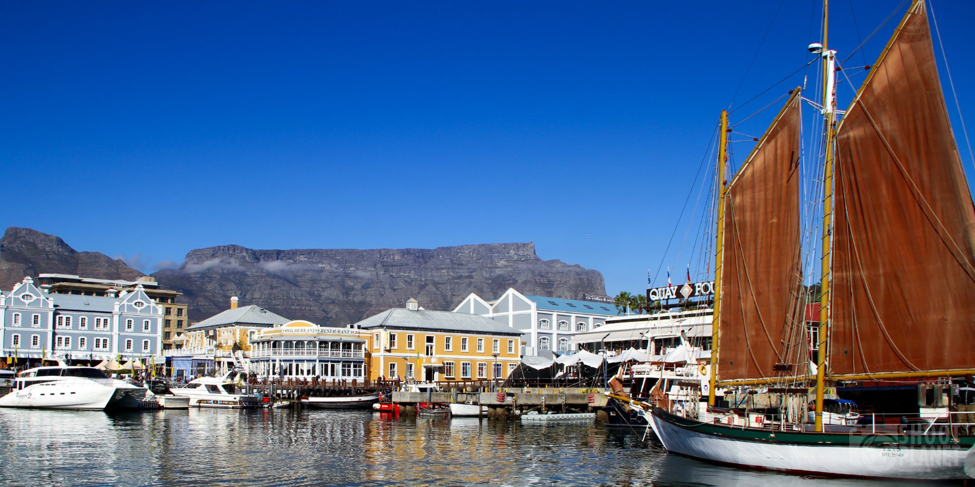 Table Mountain from Cape Town waterfront, South Africa