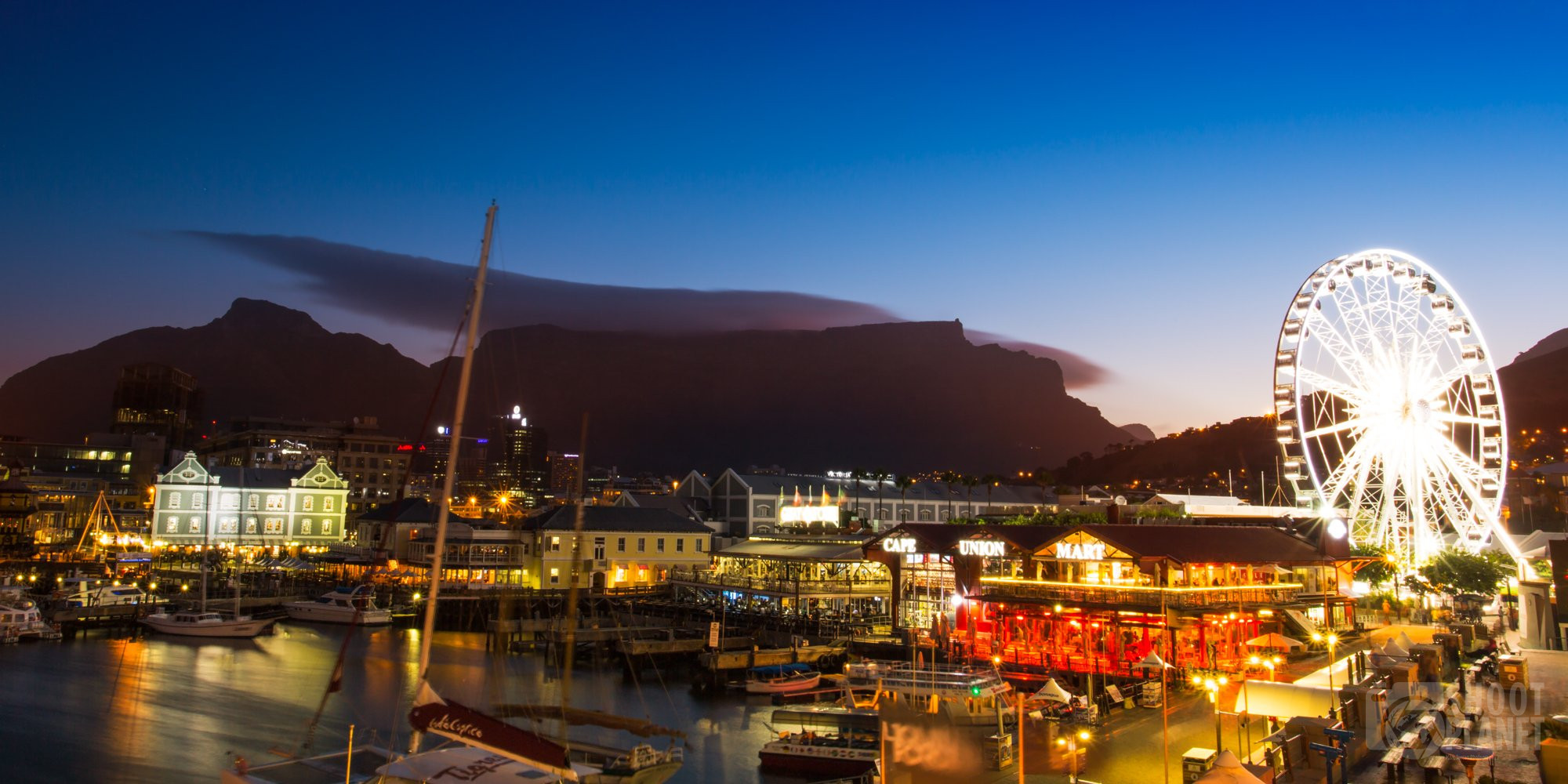 Cape Town waterfront twilight, South Africa