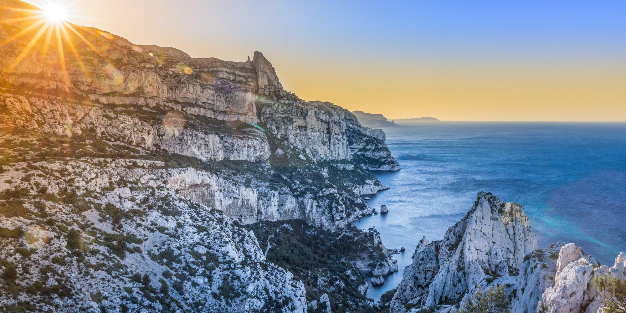Sugiton viewpoint sunrise Azure coast France