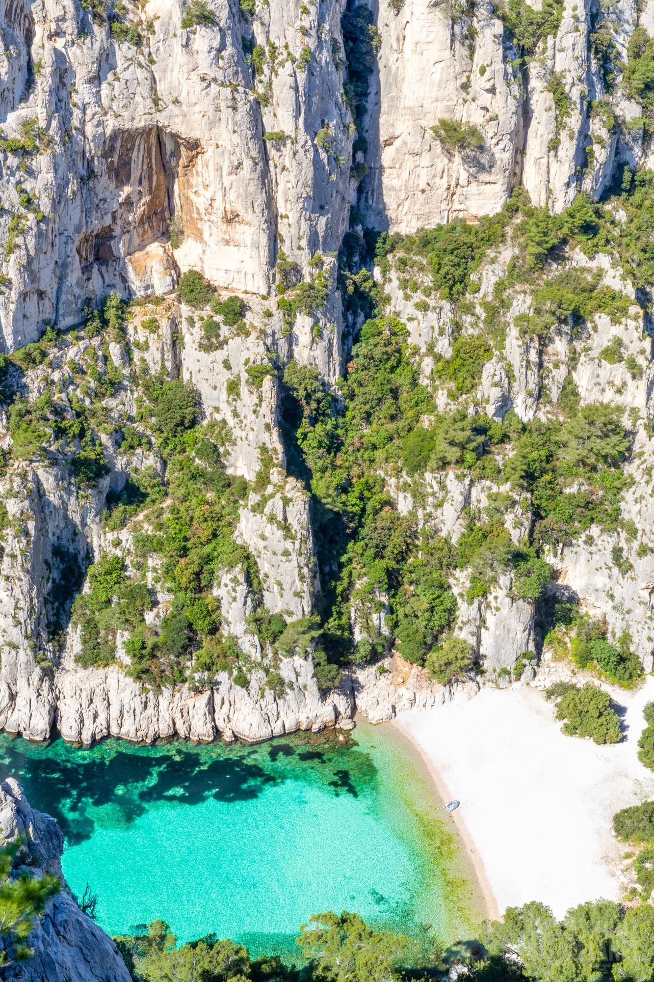 En-Vau Calanque cliffs, Azure coast France