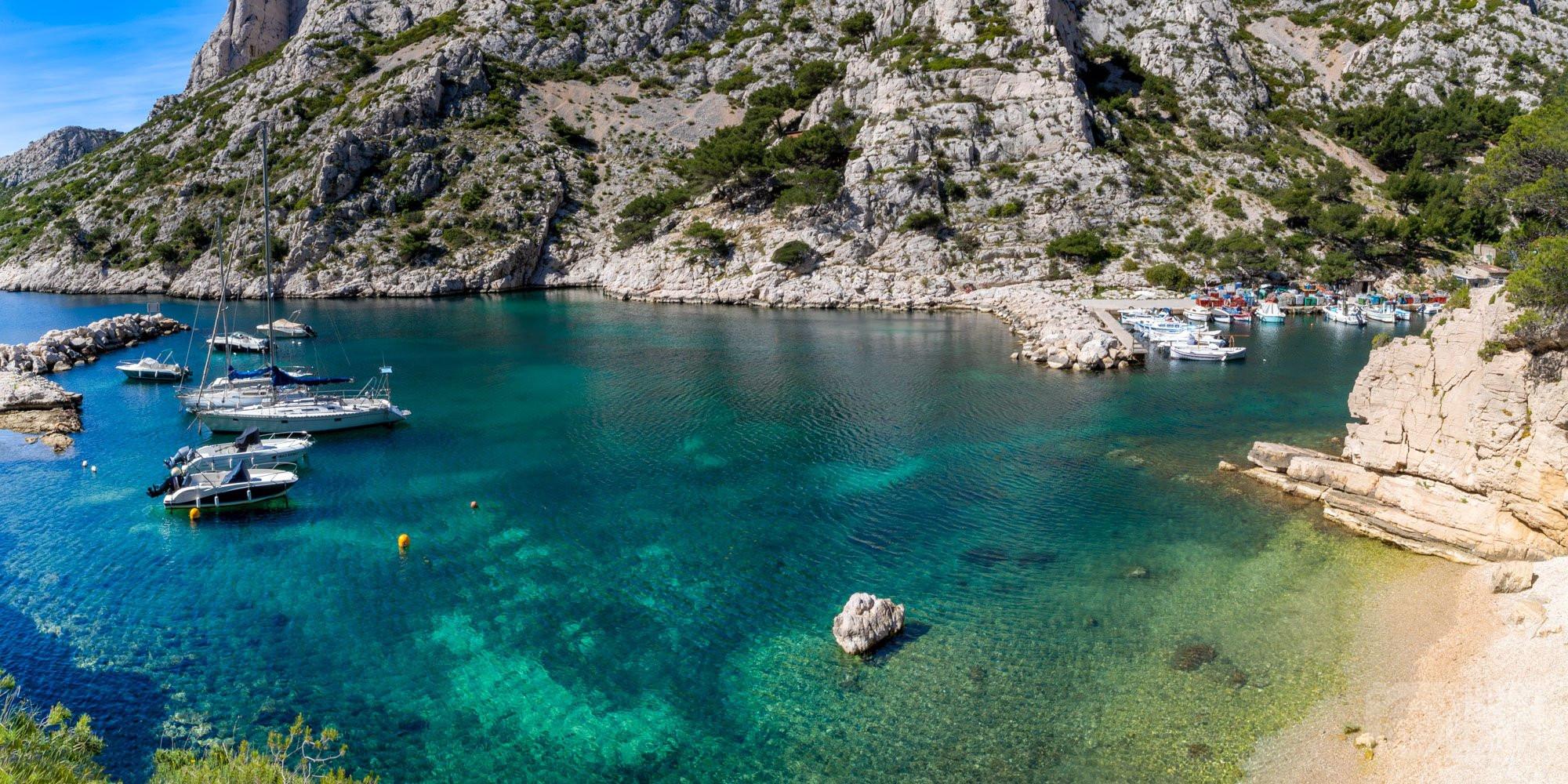 Morgiou Calanque beach, Azure coast France